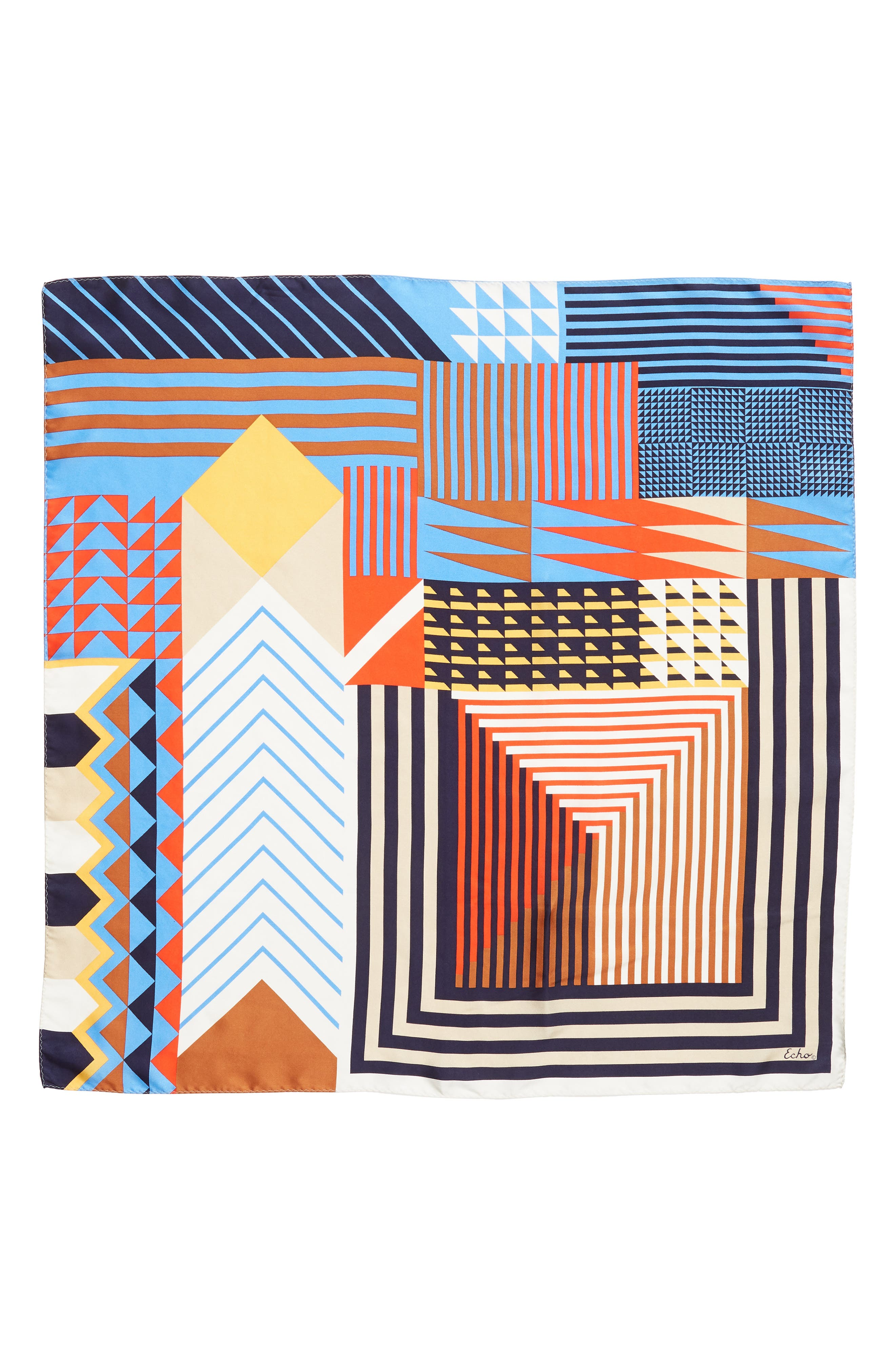 Tassie Square Silk Scarf,                             Alternate thumbnail 3, color,                             411
