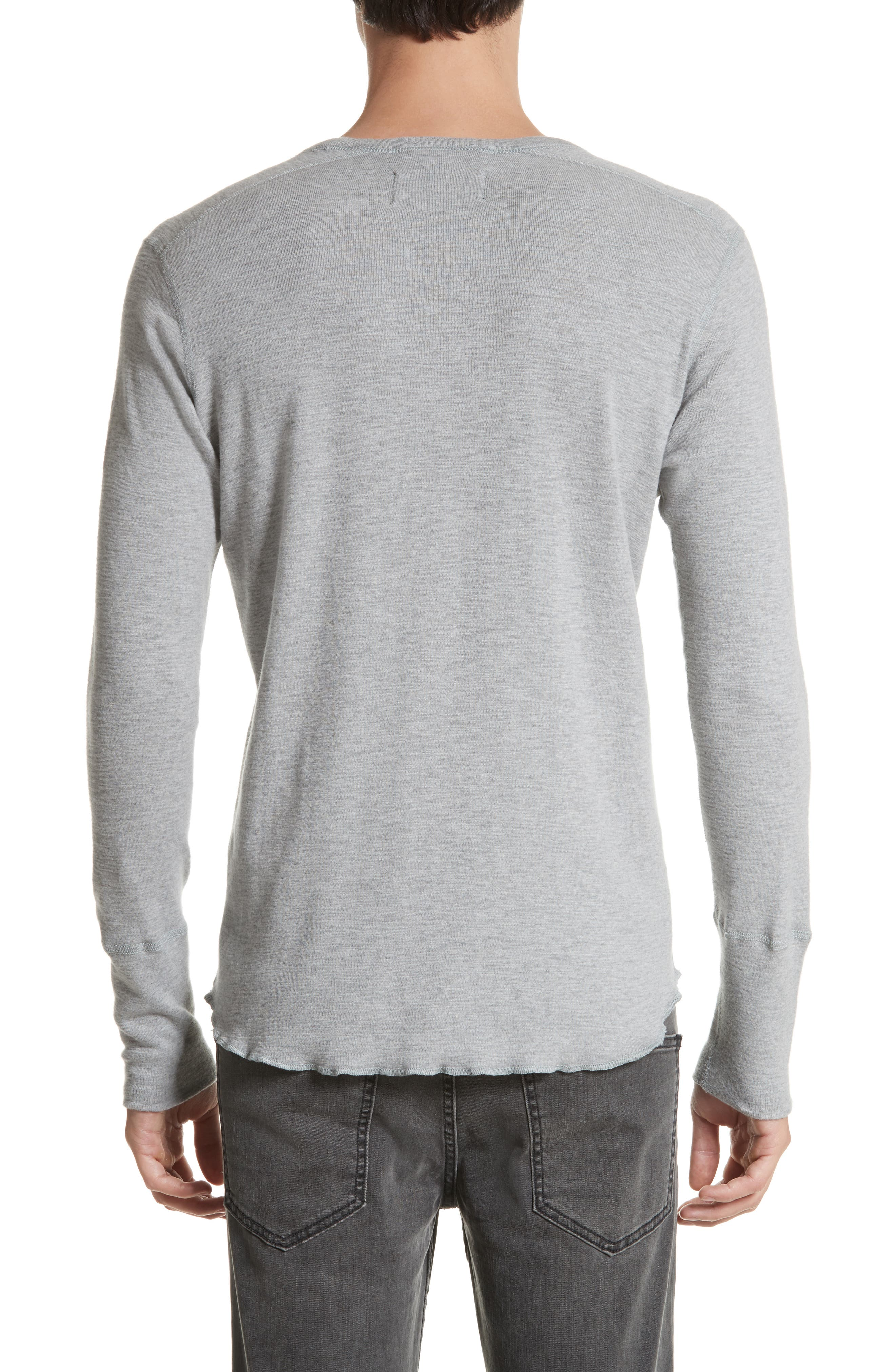Slub Crewneck Sweater,                             Alternate thumbnail 2, color,                             HEATHER GREY