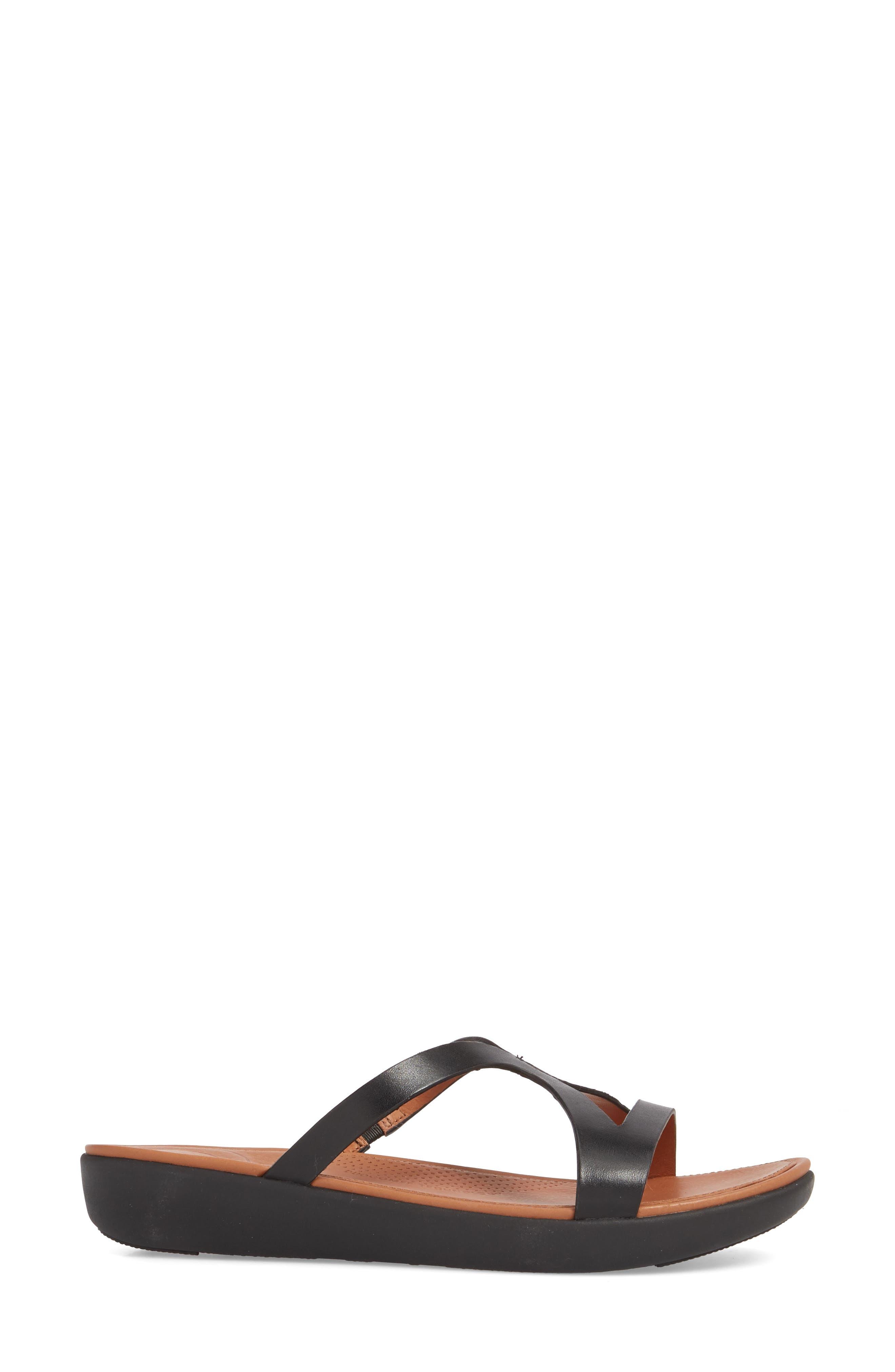 FITFLOP,                             Strata Slide Sandals,                             Alternate thumbnail 3, color,                             001