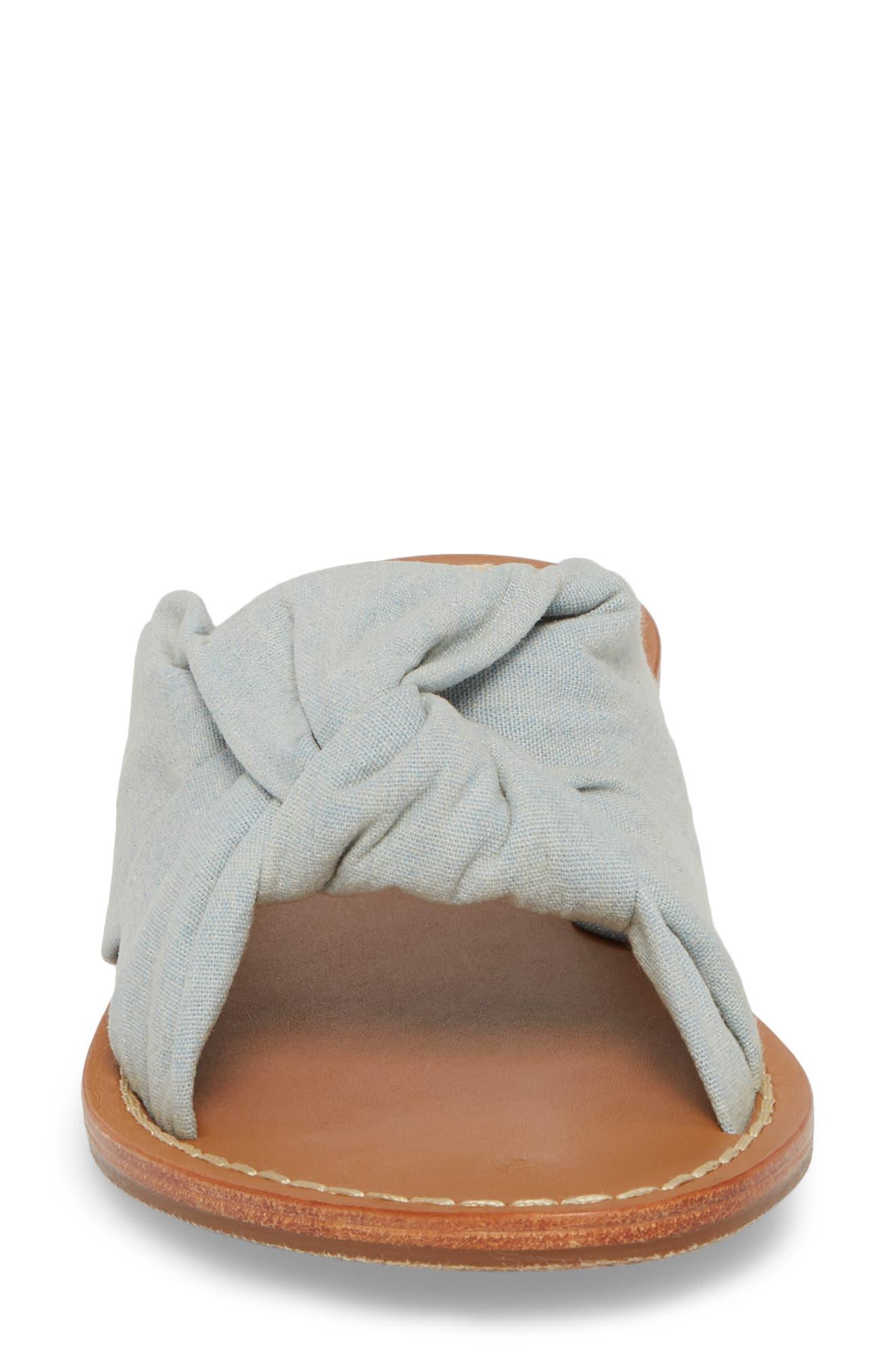 Knotted Slide Sandal,                             Alternate thumbnail 4, color,                             420