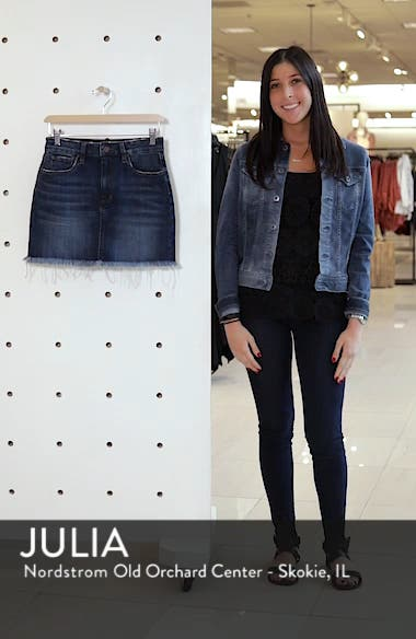 Raw Hem Denim Miniskirt, sales video thumbnail