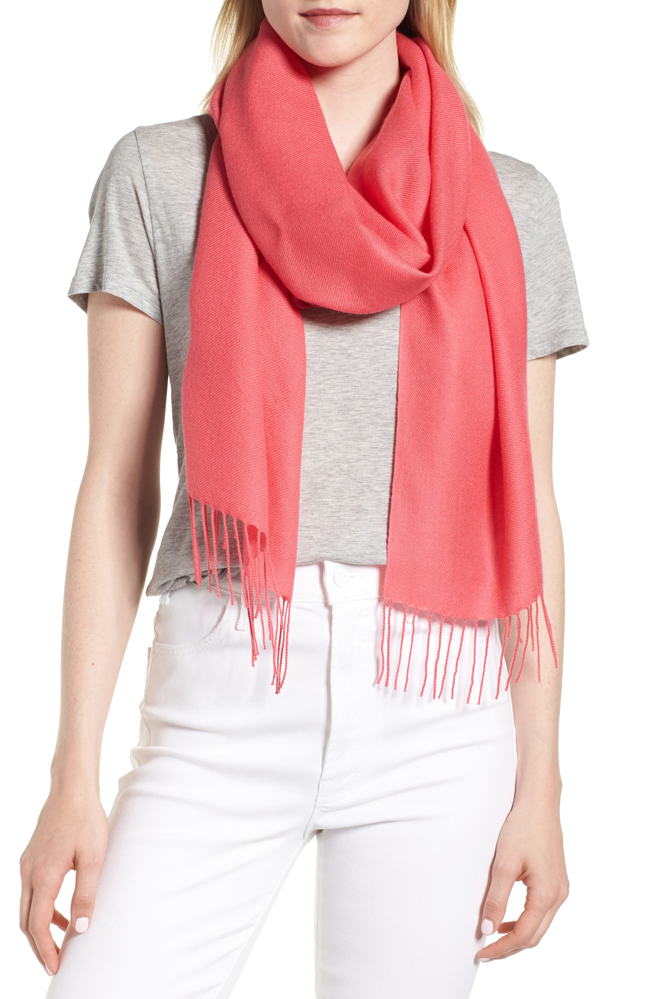 Tissue Weight Wool & Cashmere Scarf,                             Main thumbnail 9, color,