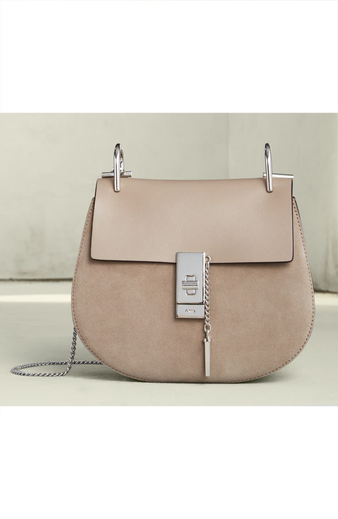 'Mini Drew' Leather Crossbody Bag,                             Alternate thumbnail 3, color,                             626