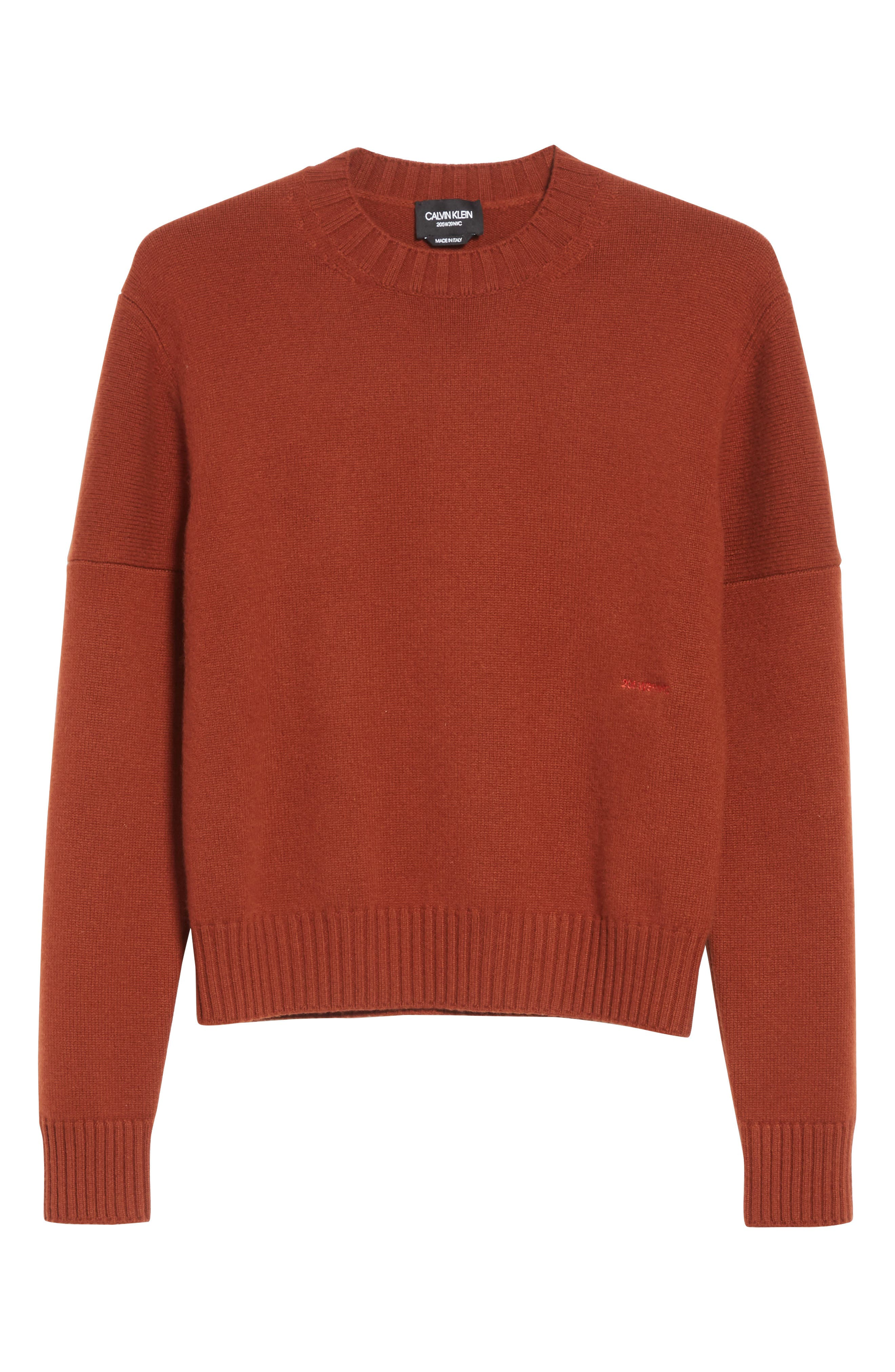 CALVIN KLEIN 205W39NYC,                             Cashmere Sweater,                             Alternate thumbnail 6, color,                             605