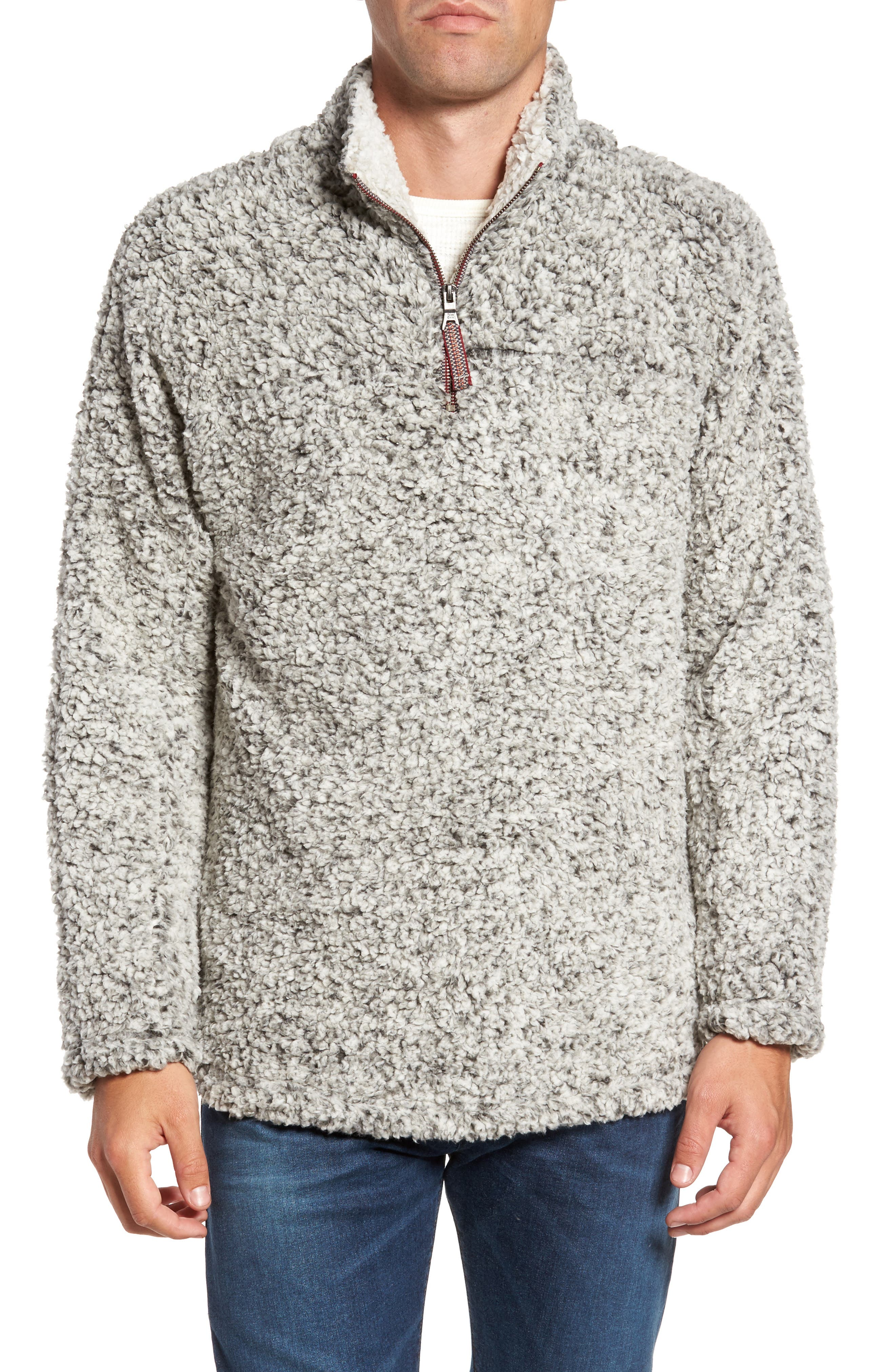 Frosty Tipped Quarter Zip Pullover,                             Main thumbnail 1, color,                             020