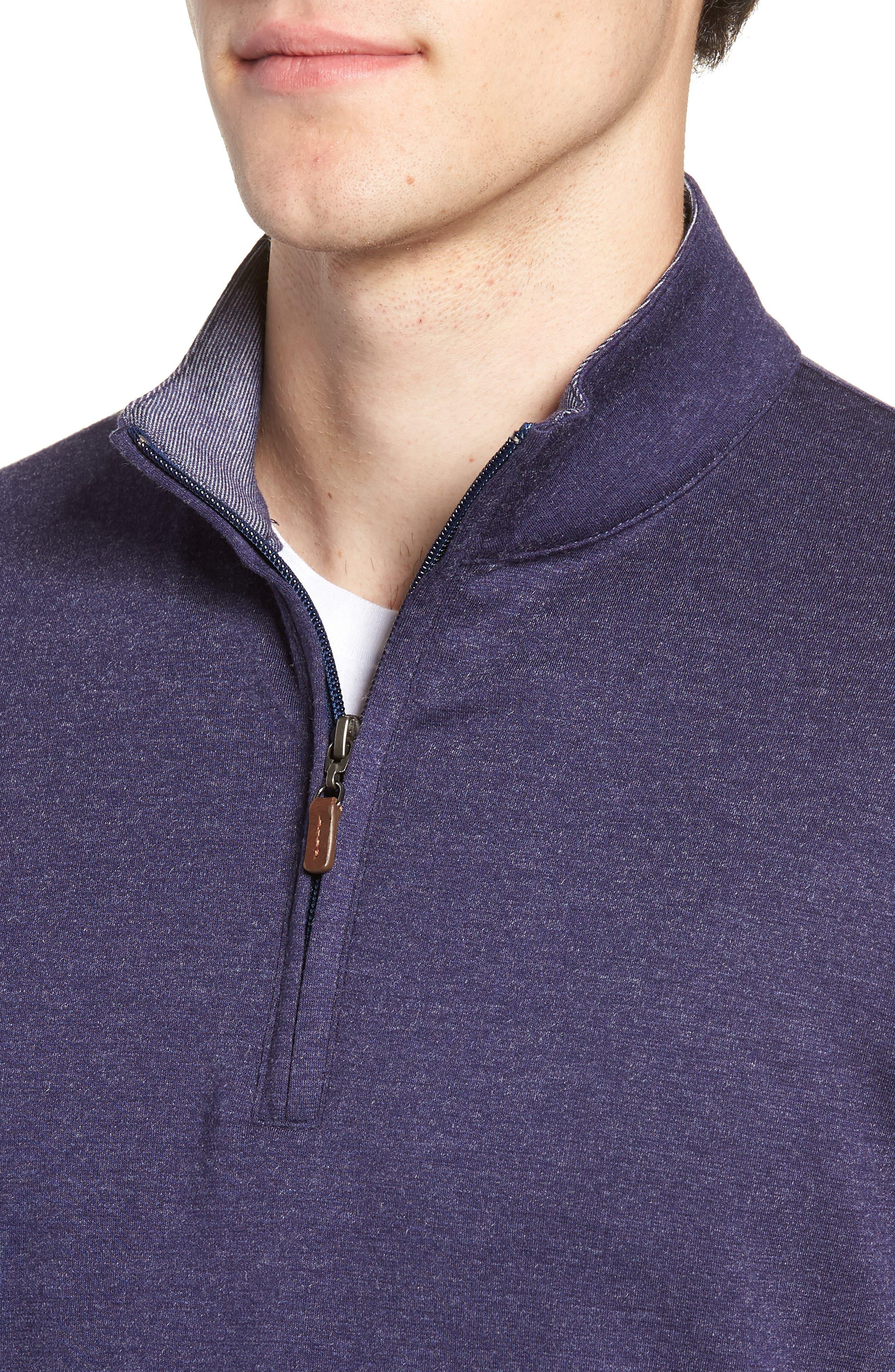 Eldridge Quarter Zip Performance Pullover,                             Alternate thumbnail 4, color,                             BLUE