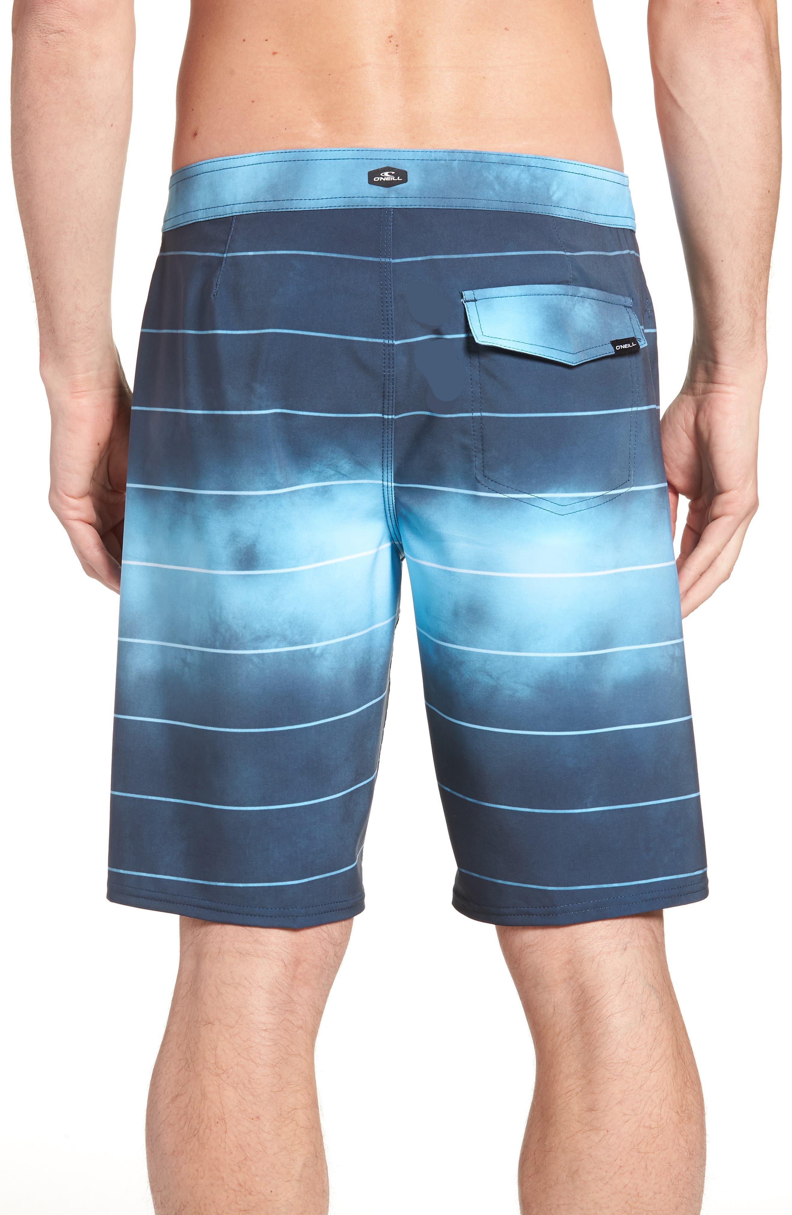 Hyperfreak Smokey Mirrors Board Shorts,                             Alternate thumbnail 2, color,                             NAVY