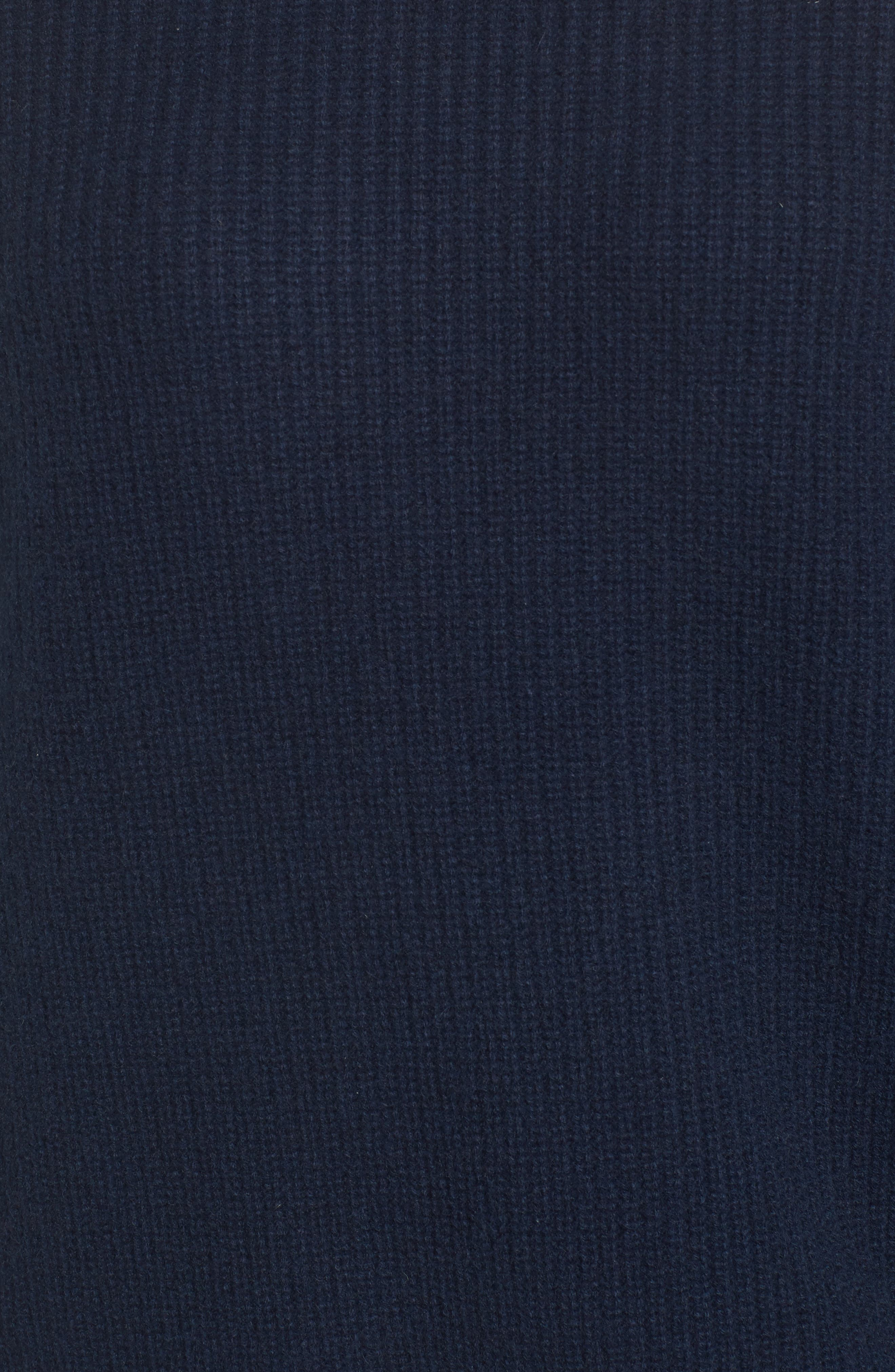 Suede Patch Cashmere Sweater,                             Alternate thumbnail 5, color,                             410