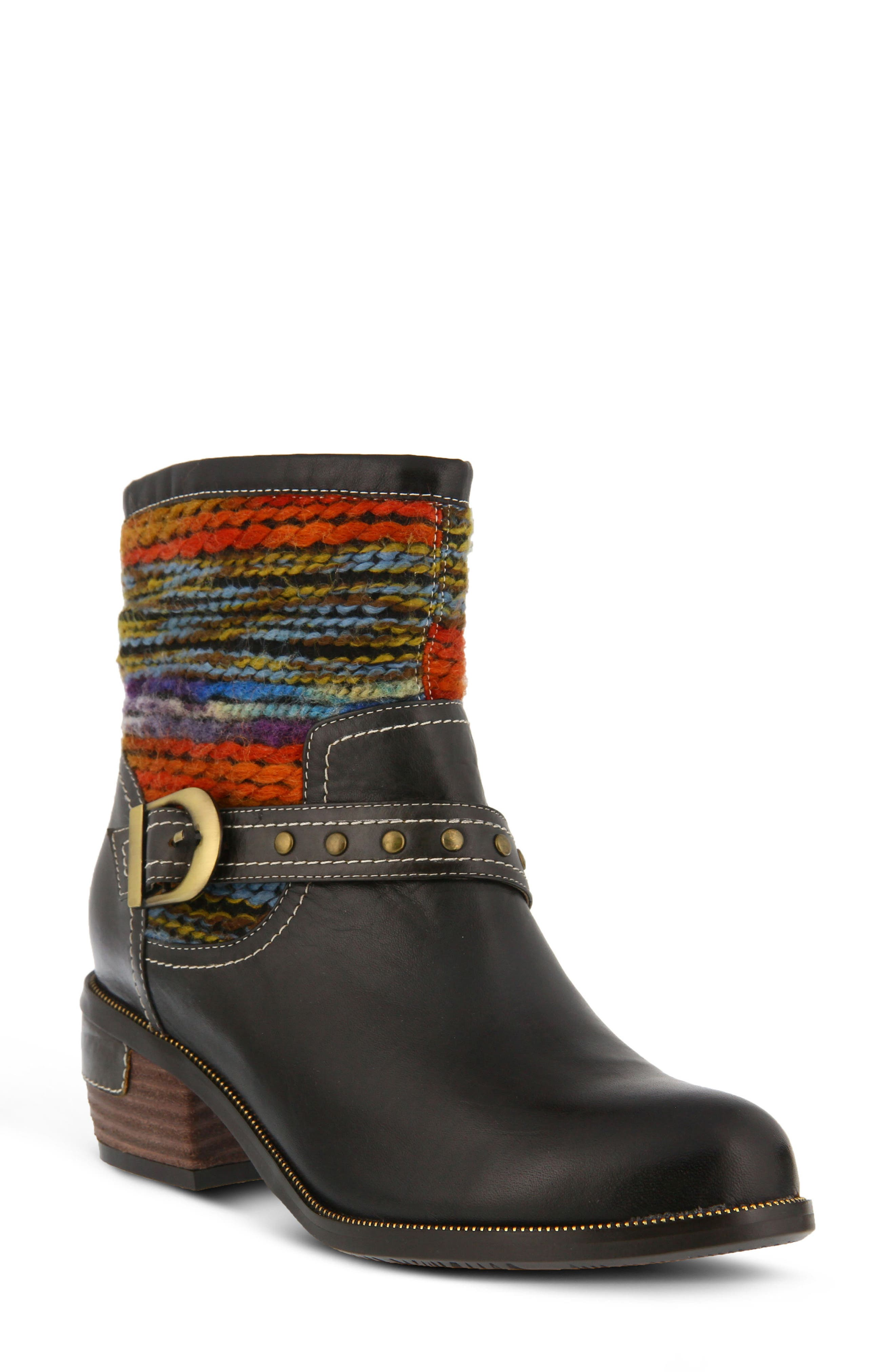 L'Artiste Gaetana Boot,                         Main,                         color, BLACK LEATHER