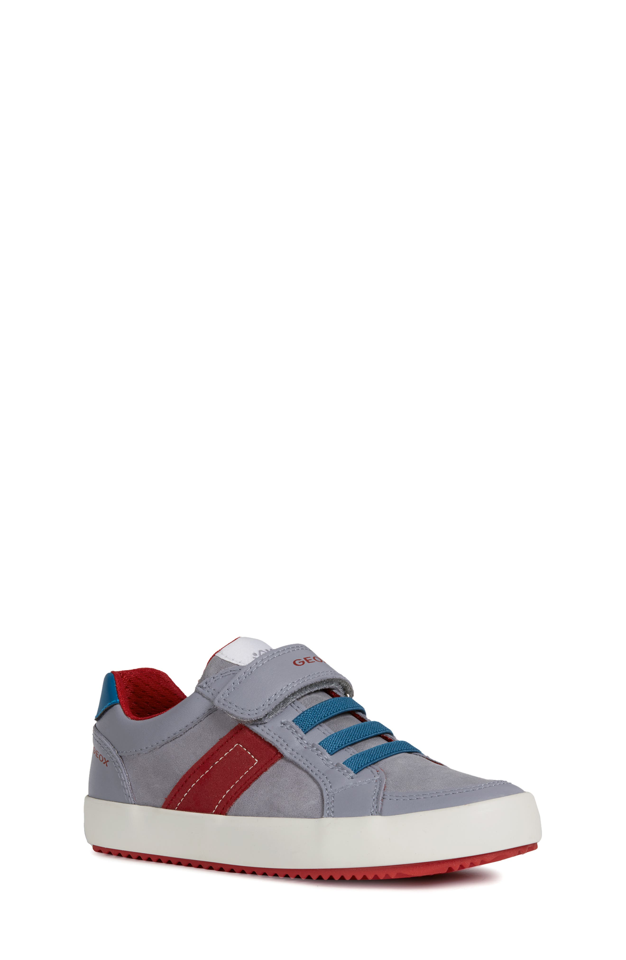 Alonisso Low Top Sneaker, Main, color, GREY/ RED