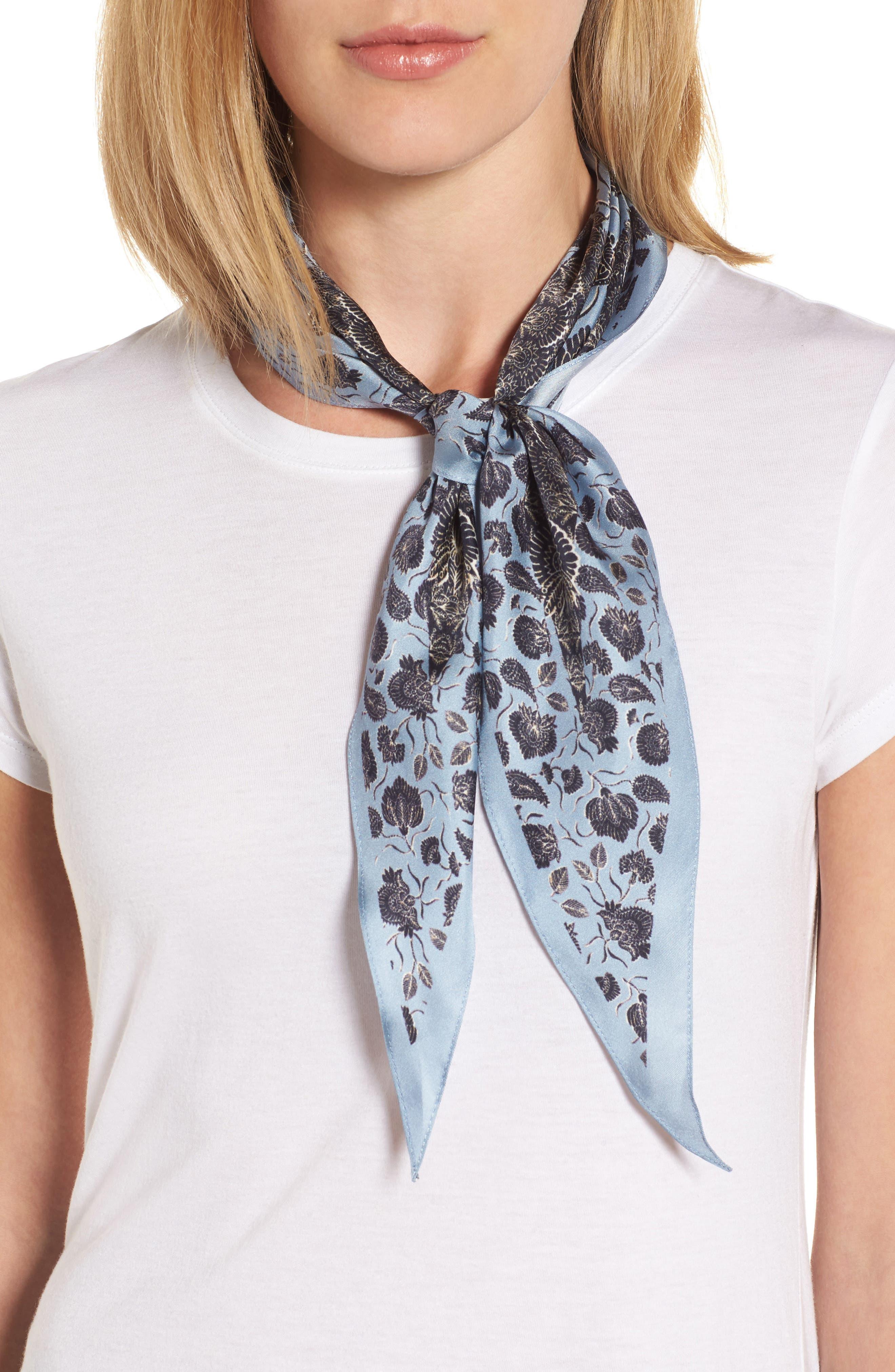 Lotus Paisley Diamond Silk Scarf,                         Main,                         color, 420