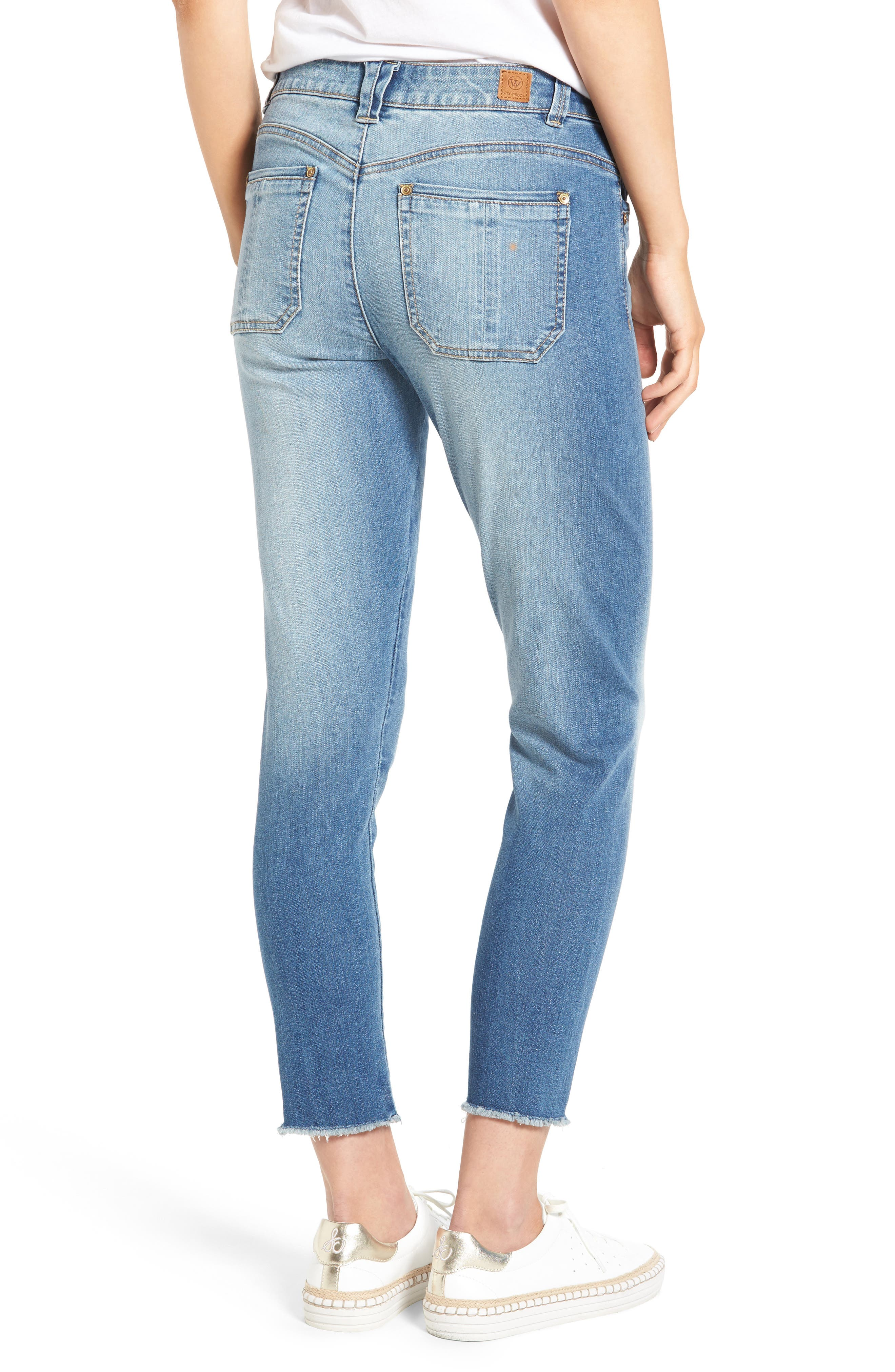 Seamless Ankle Skimmer Jeans (Regular & Petite),                             Alternate thumbnail 2, color,