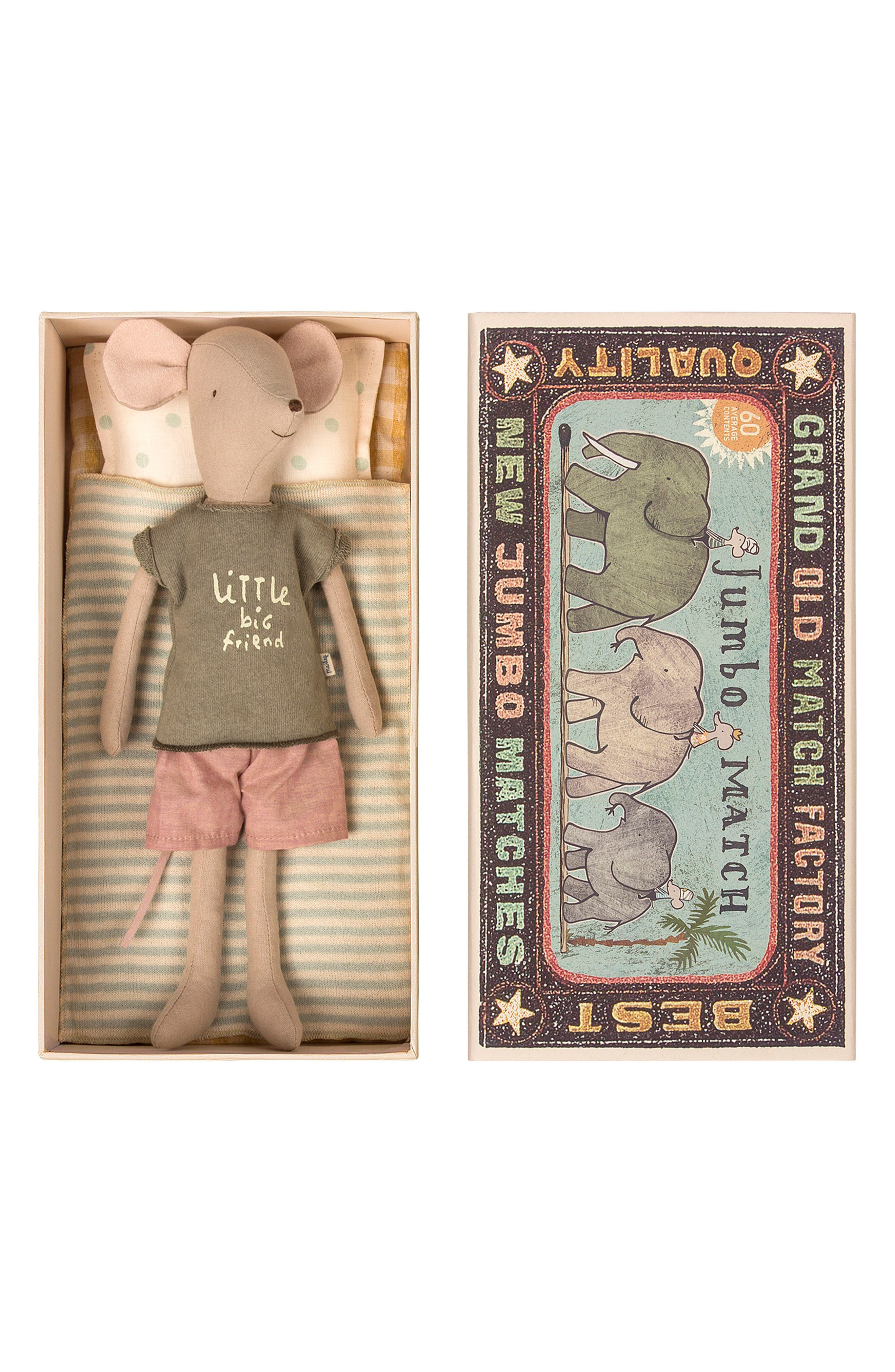 Boy Mouse in a Box Stuffed Animal,                         Main,                         color, MULTI COLOR