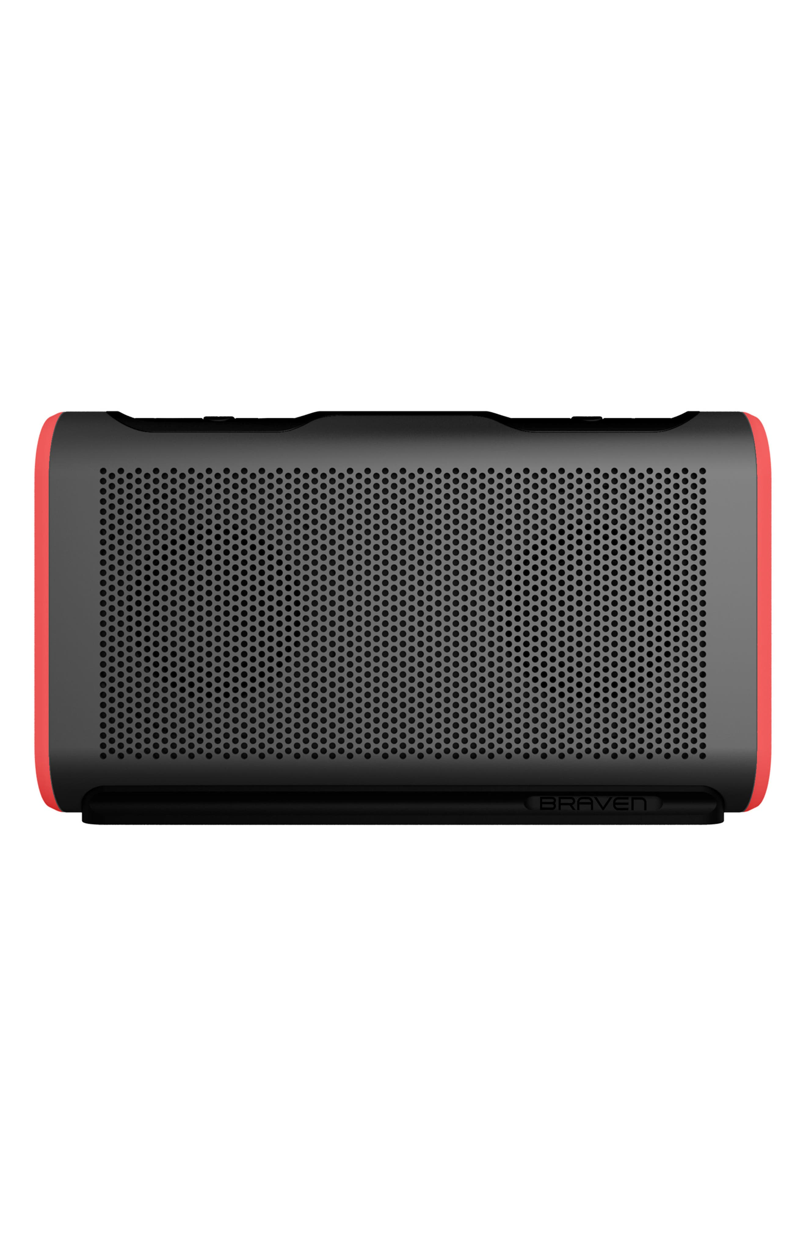 Stryde Waterproof Bluetooth Speaker,                             Main thumbnail 1, color,                             GREY/ RED