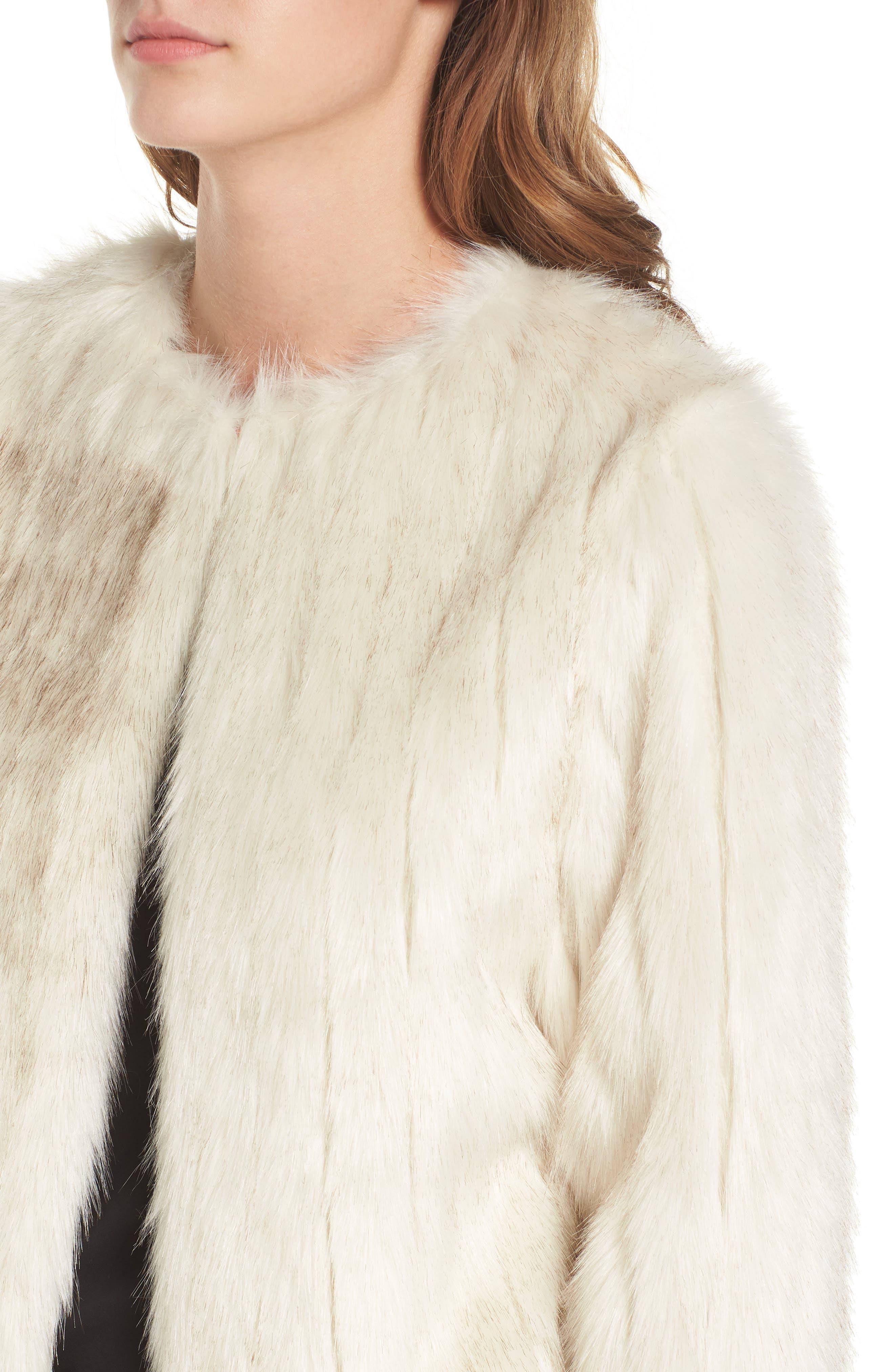 Winter Faux Fur Jacket,                             Alternate thumbnail 4, color,