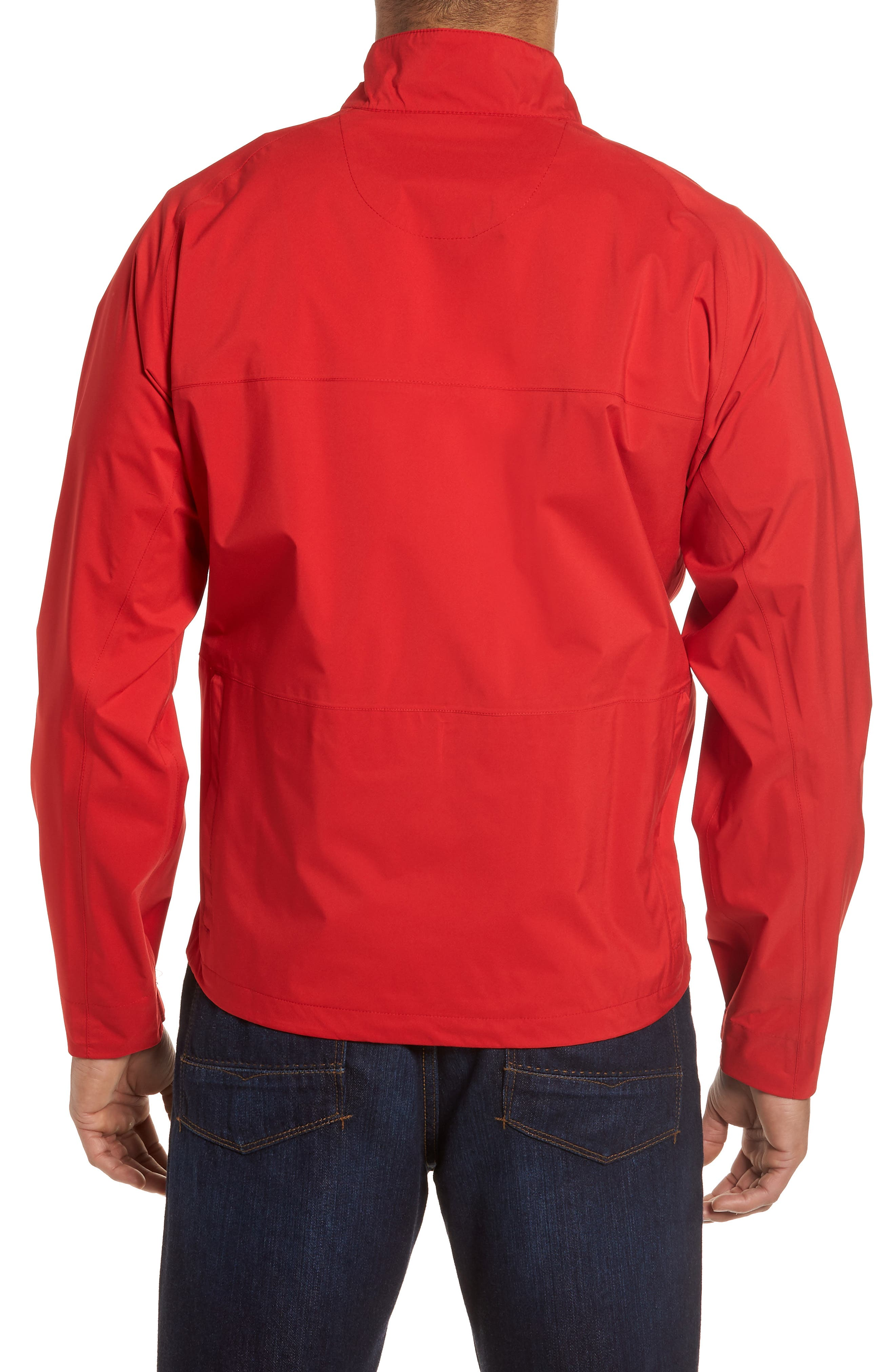 Regular Fit Half Zip Performance Pullover,                             Alternate thumbnail 4, color,
