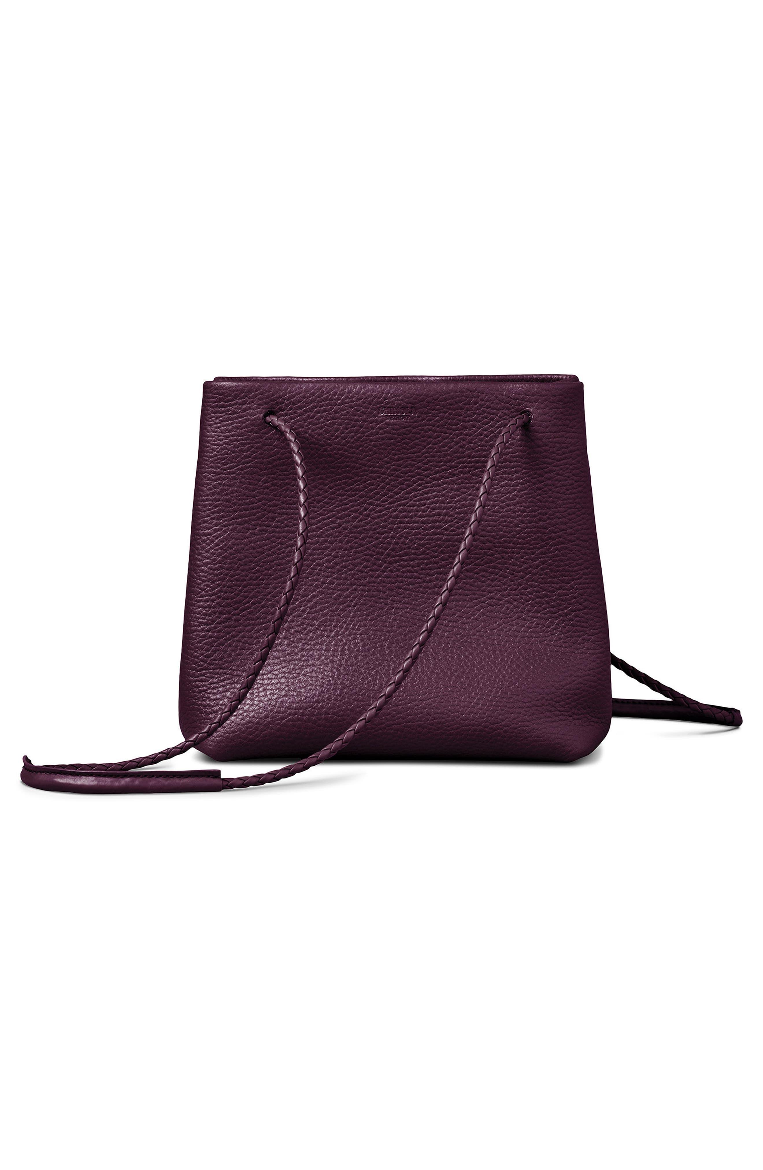 Mini Pebbled Leather Drawstring Crossbody Bag,                             Alternate thumbnail 12, color,