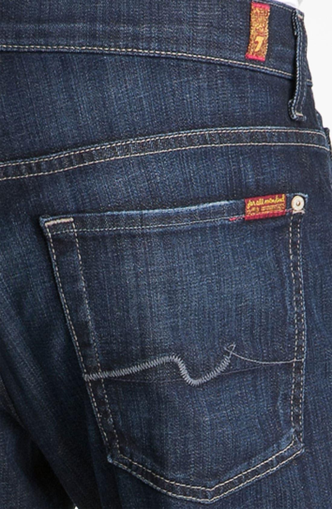 Austyn Relaxed Straight Leg Jeans,                             Alternate thumbnail 6, color,                             LOS ANGELES DARK