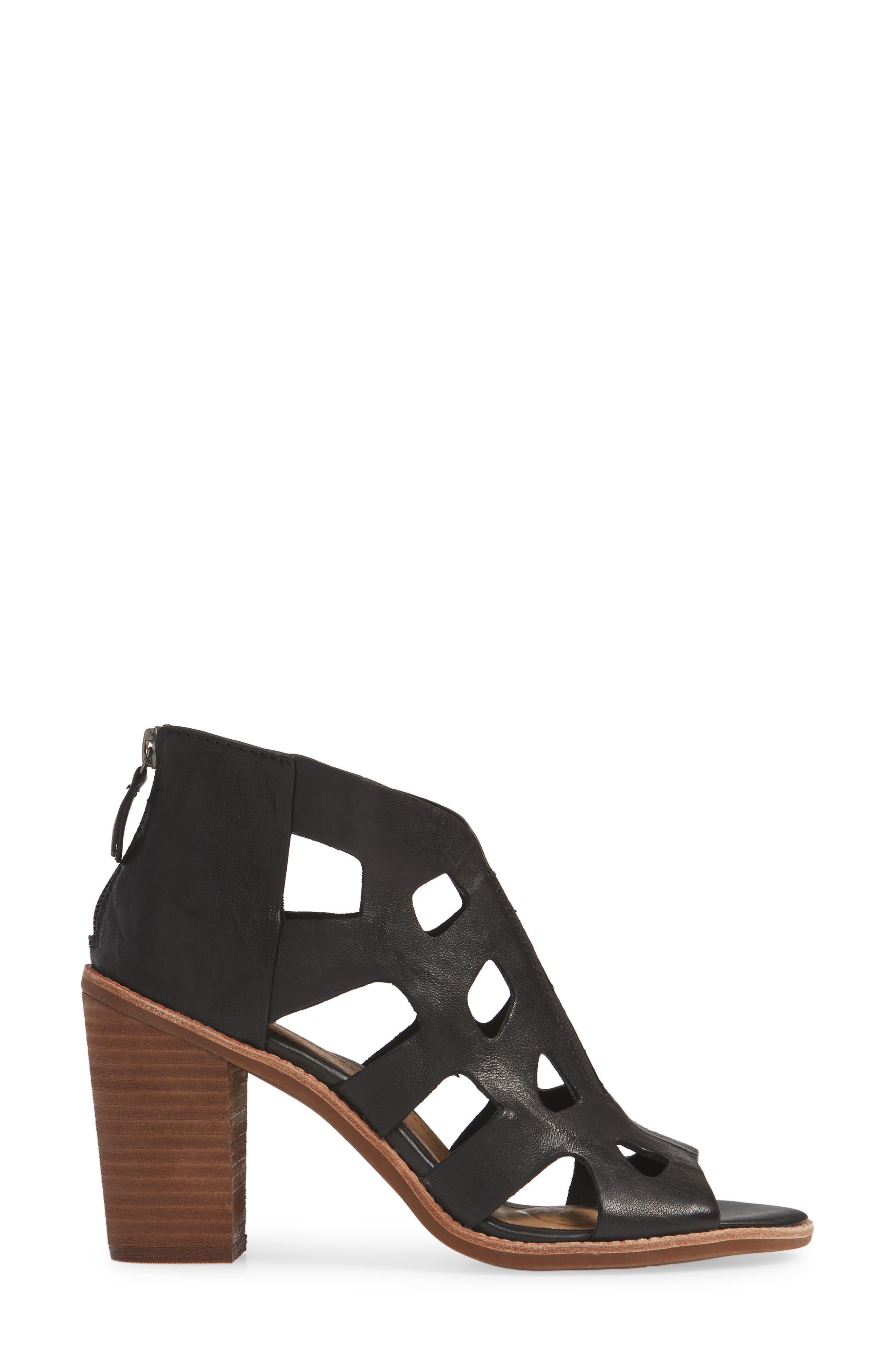 Pazia Block Heel Sandal,                             Alternate thumbnail 3, color,                             BLACK LEATHER