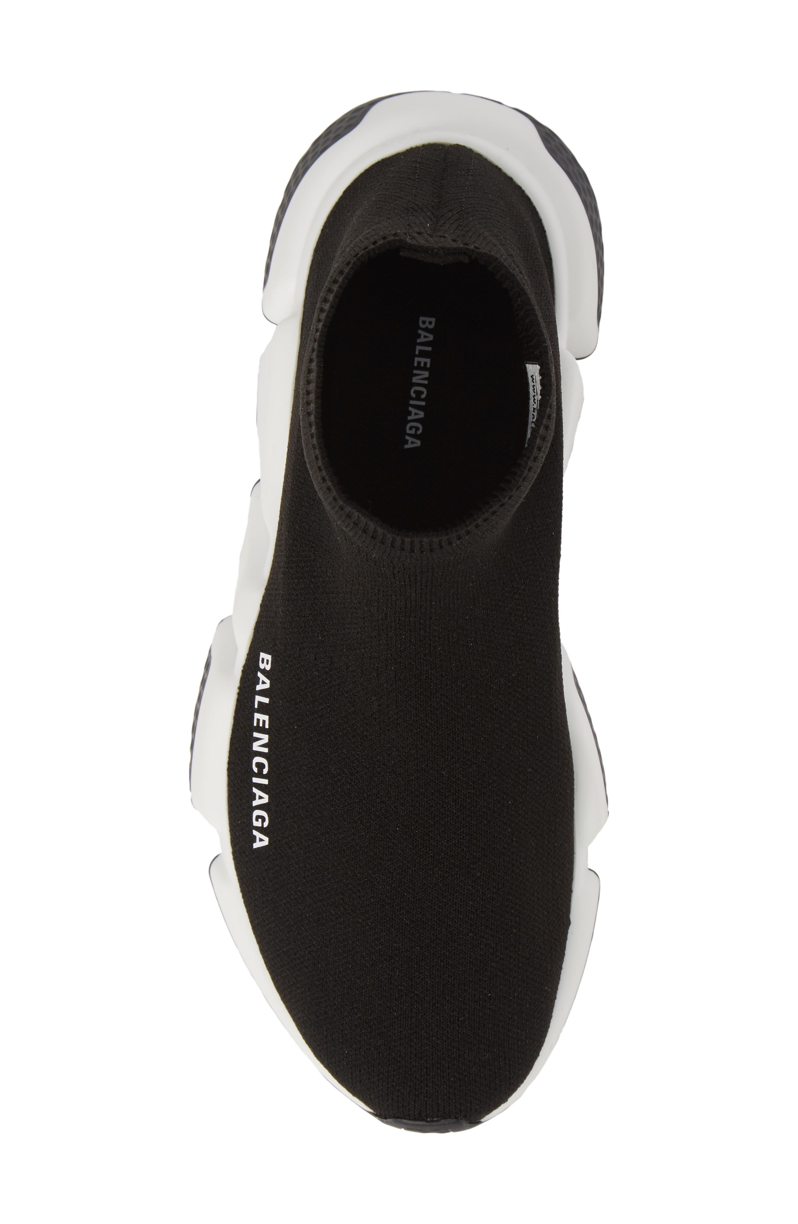 Speed Knit Sneaker,                             Alternate thumbnail 5, color,                             BLACK