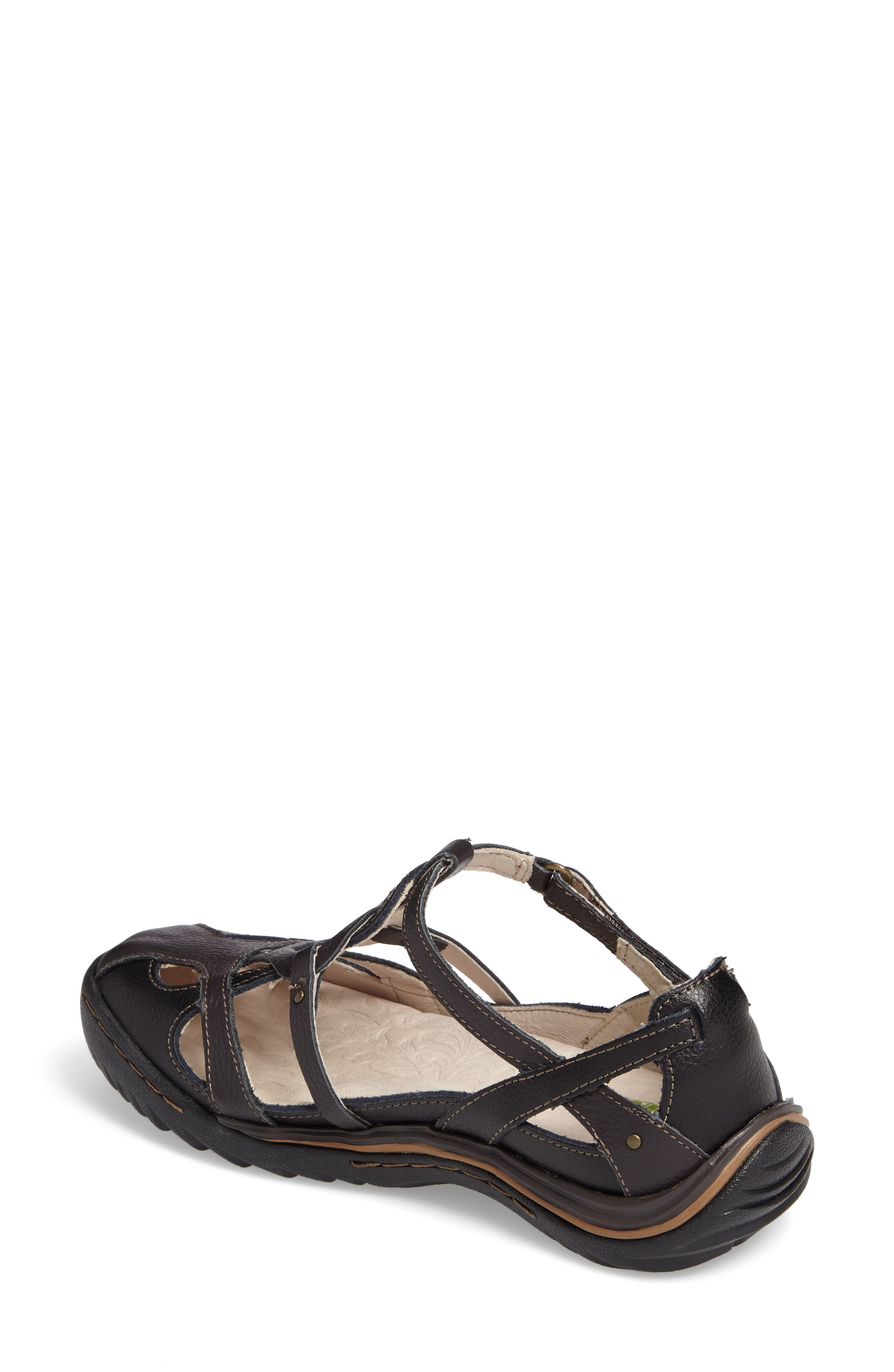 Spain Studded Strappy Sneaker,                             Alternate thumbnail 2, color,                             BLACK LEATHER