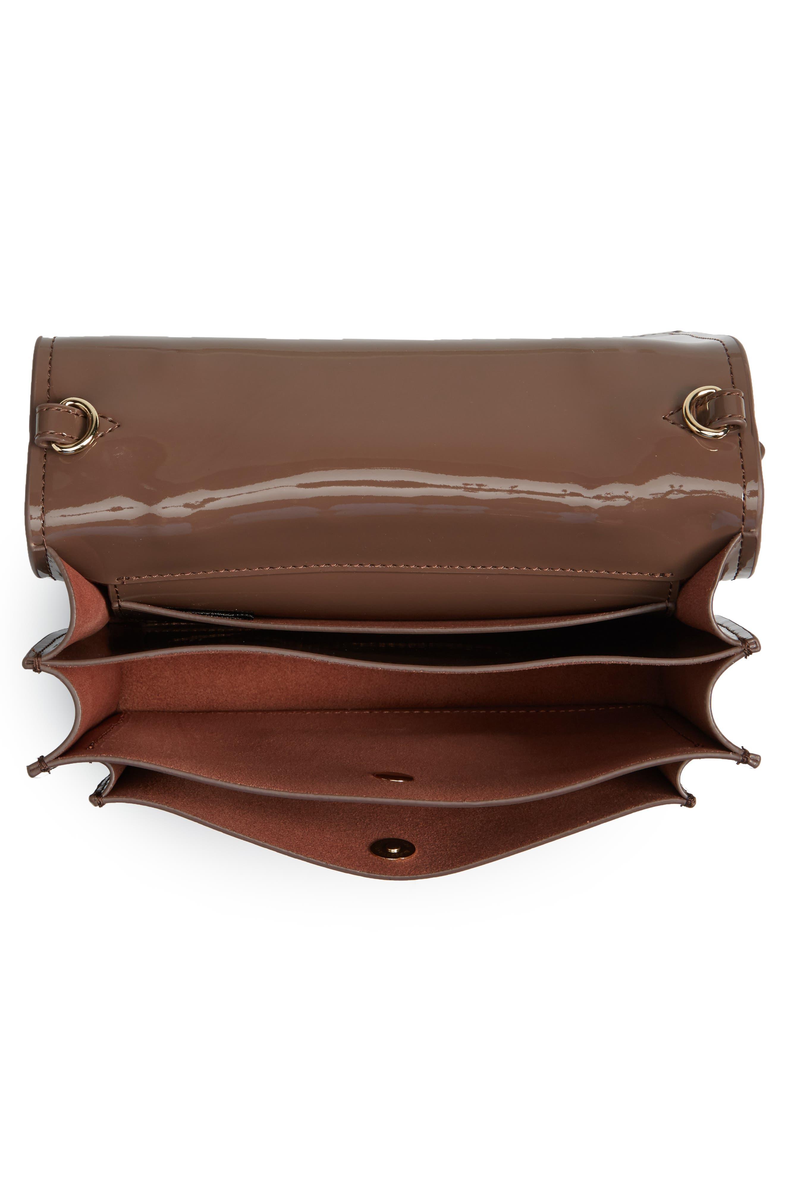 Earthette Patent Leather Accordion Bag,                             Alternate thumbnail 4, color,                             202