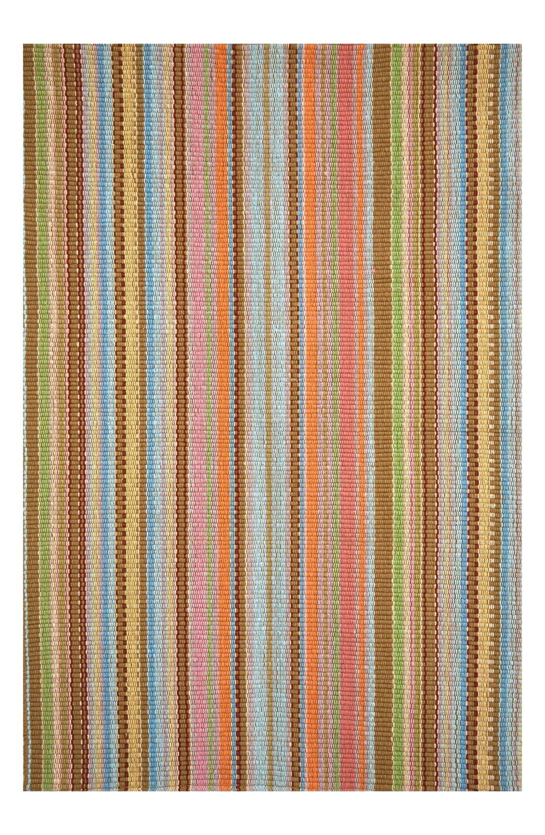 'Zanzibar' Ticking Stripe Rug,                             Main thumbnail 1, color,                             BLUE/ MULTI