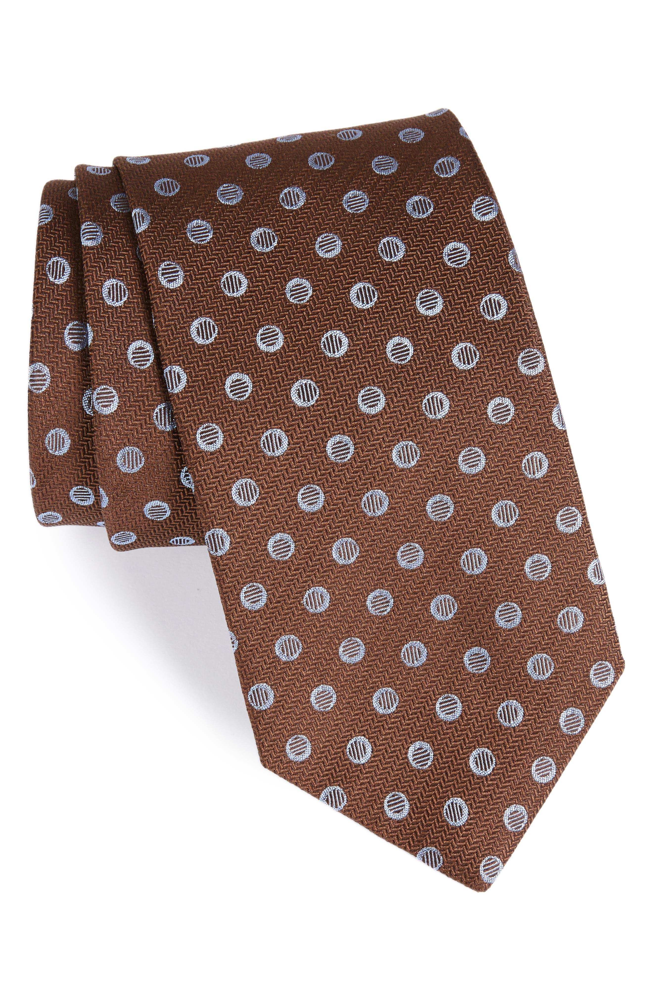 Dot Silk Tie,                         Main,                         color, 212
