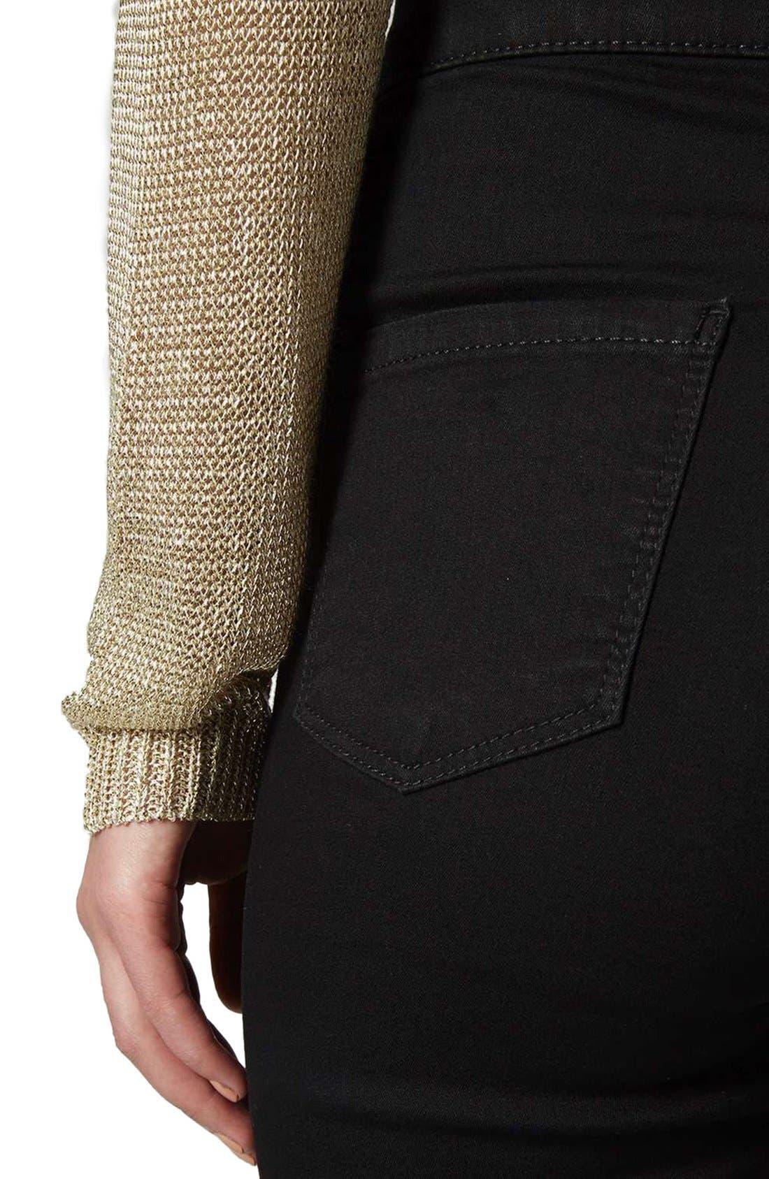 Joni High Waist Skinny Jeans,                             Alternate thumbnail 8, color,                             BLACK