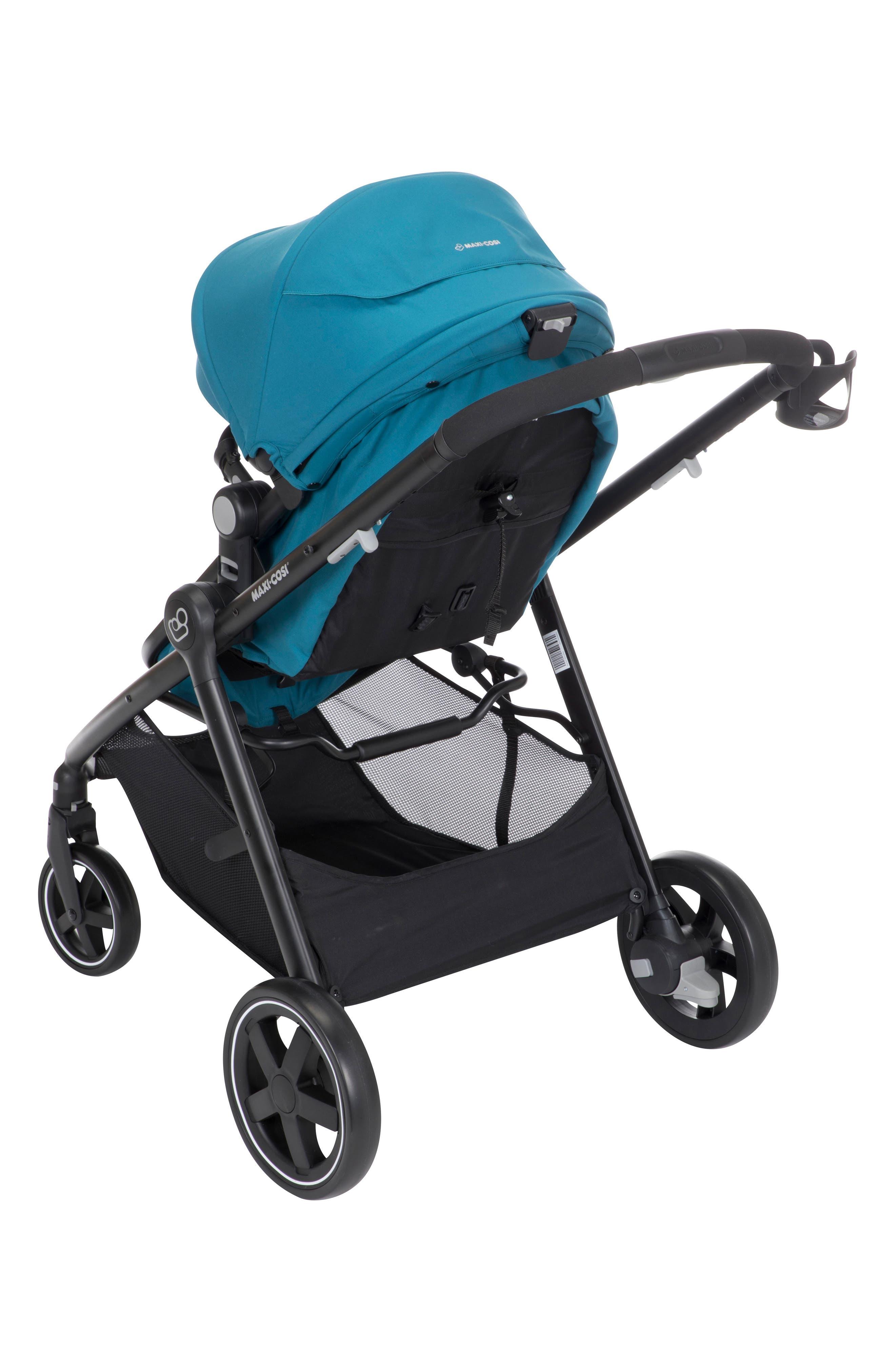 5-1 Mico 30 Infant Car Seat & Zelia Stroller Modular Travel System,                             Alternate thumbnail 7, color,                             EMERALD TIDE