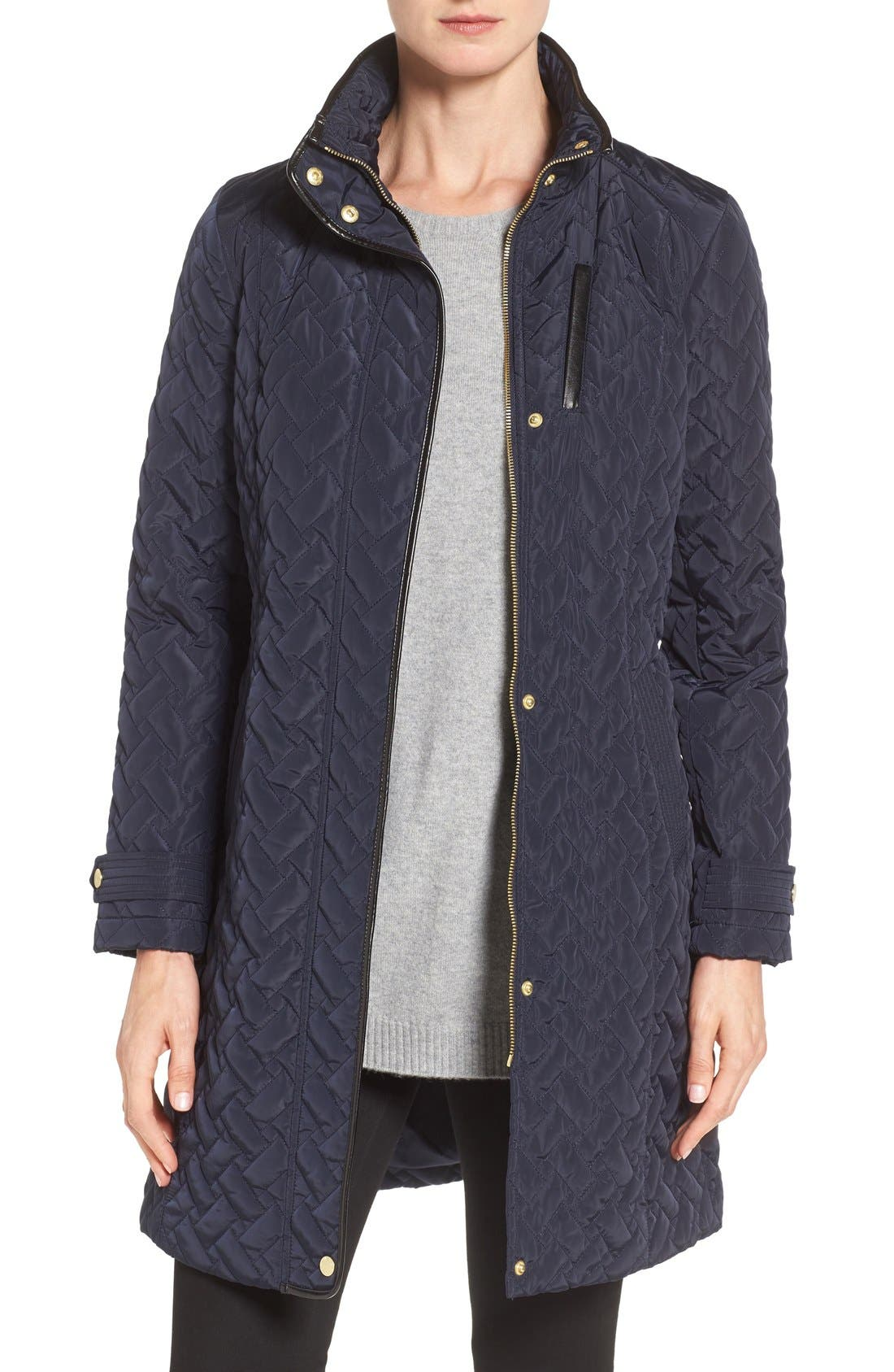 Belted Quilted Coat,                             Main thumbnail 6, color,