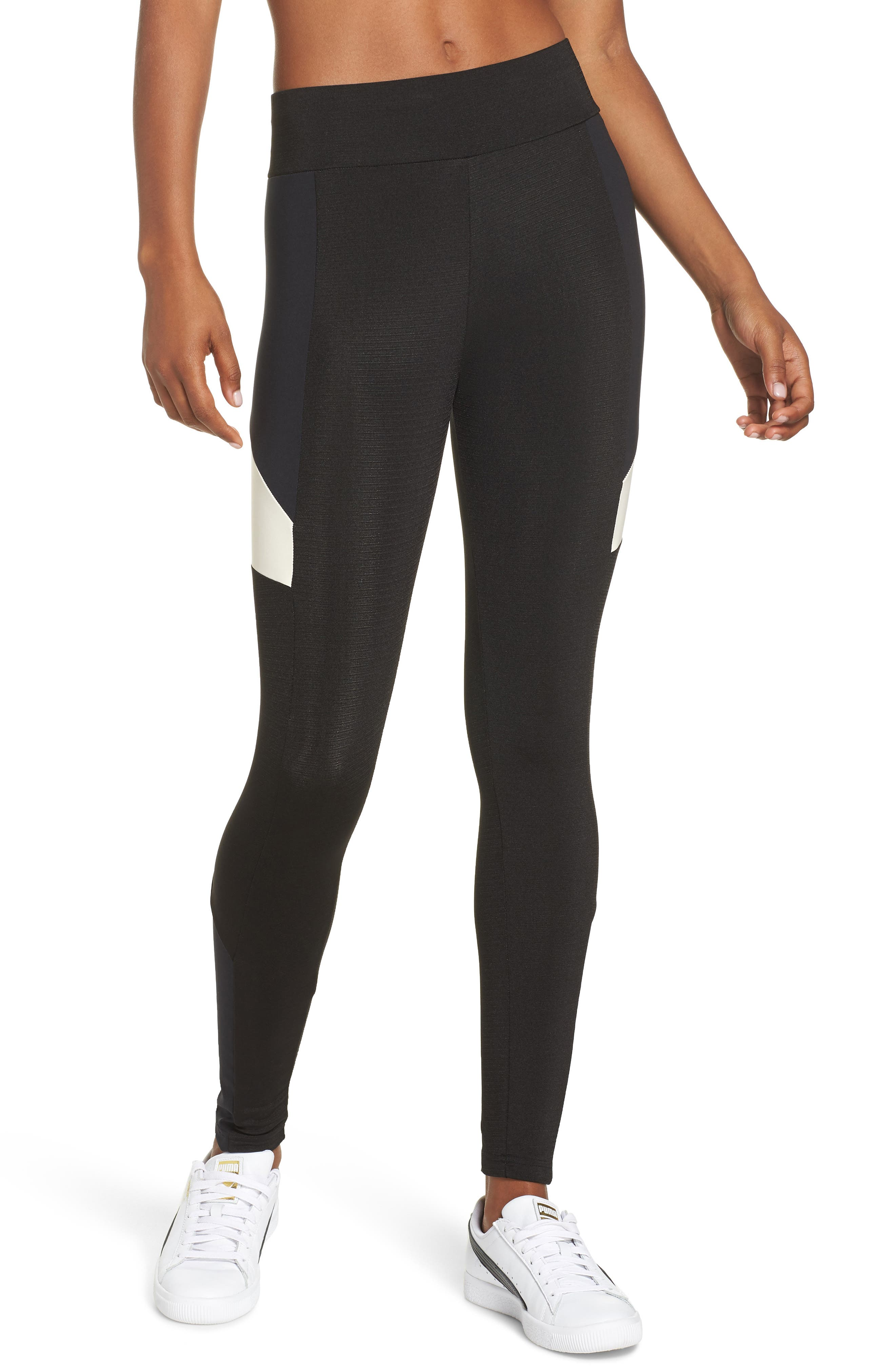 Retro Leggings,                         Main,                         color, PUMA BLACK