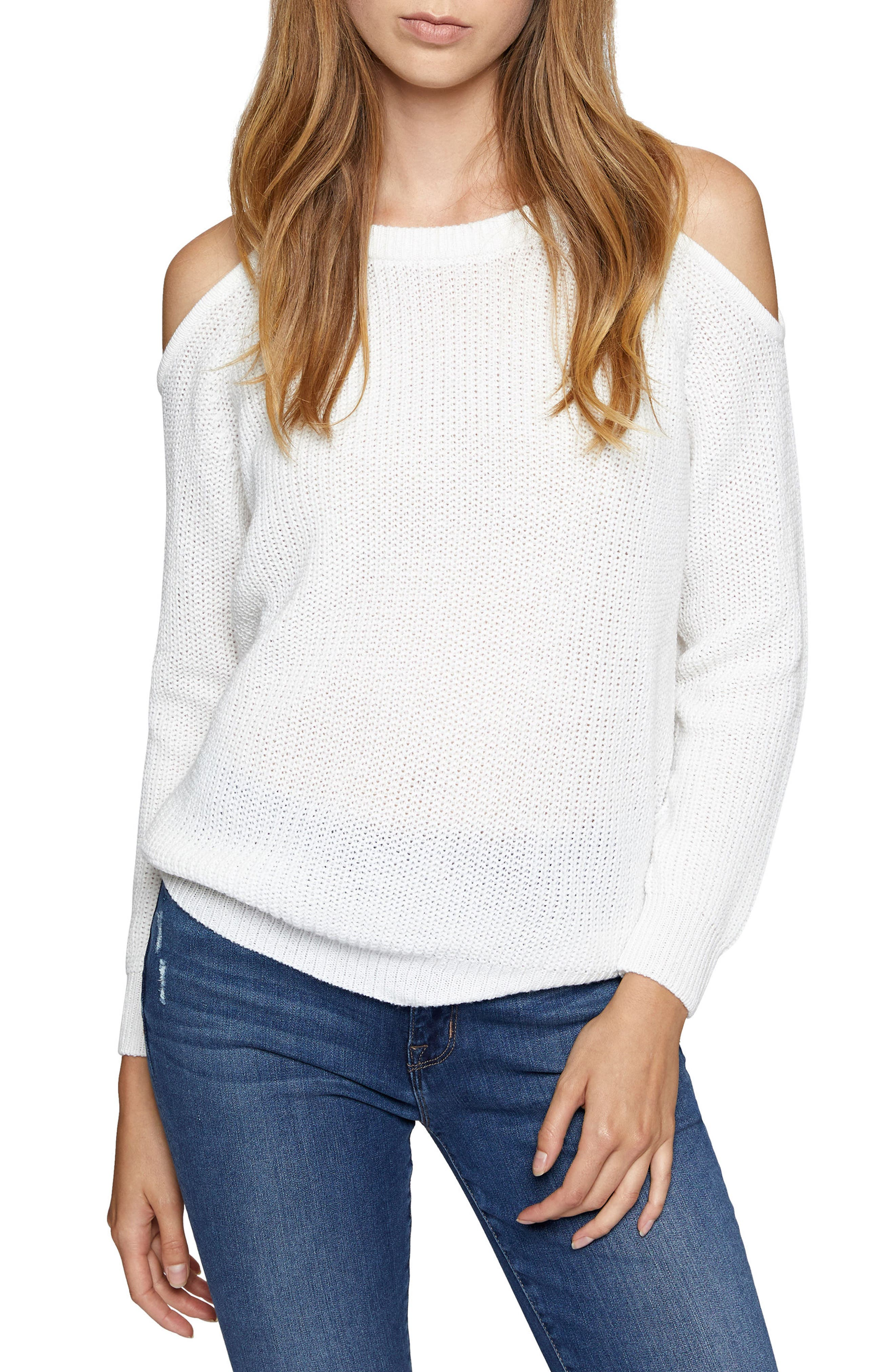 Riley Cold Shoulder Sweater,                             Main thumbnail 3, color,