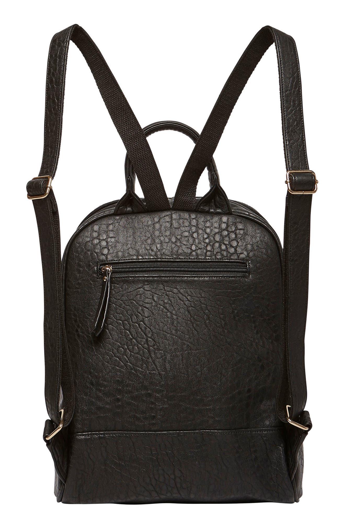 My Way Vegan Leather Backpack,                             Alternate thumbnail 2, color,                             BLACK