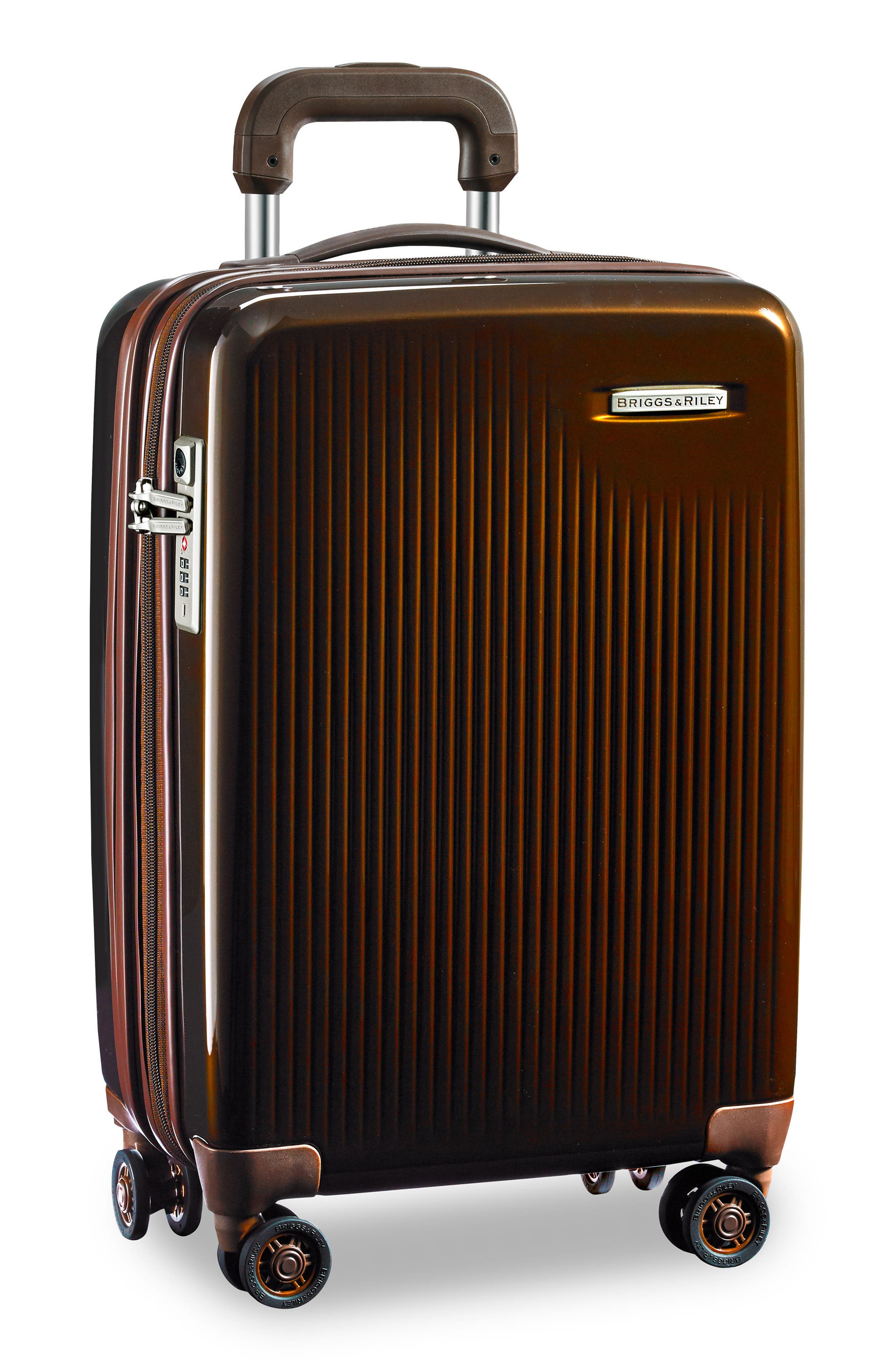 BRIGGS & RILEY,                             Sympatico 21-Inch Expandable Wheeled Carry-On,                             Alternate thumbnail 5, color,                             BRONZE