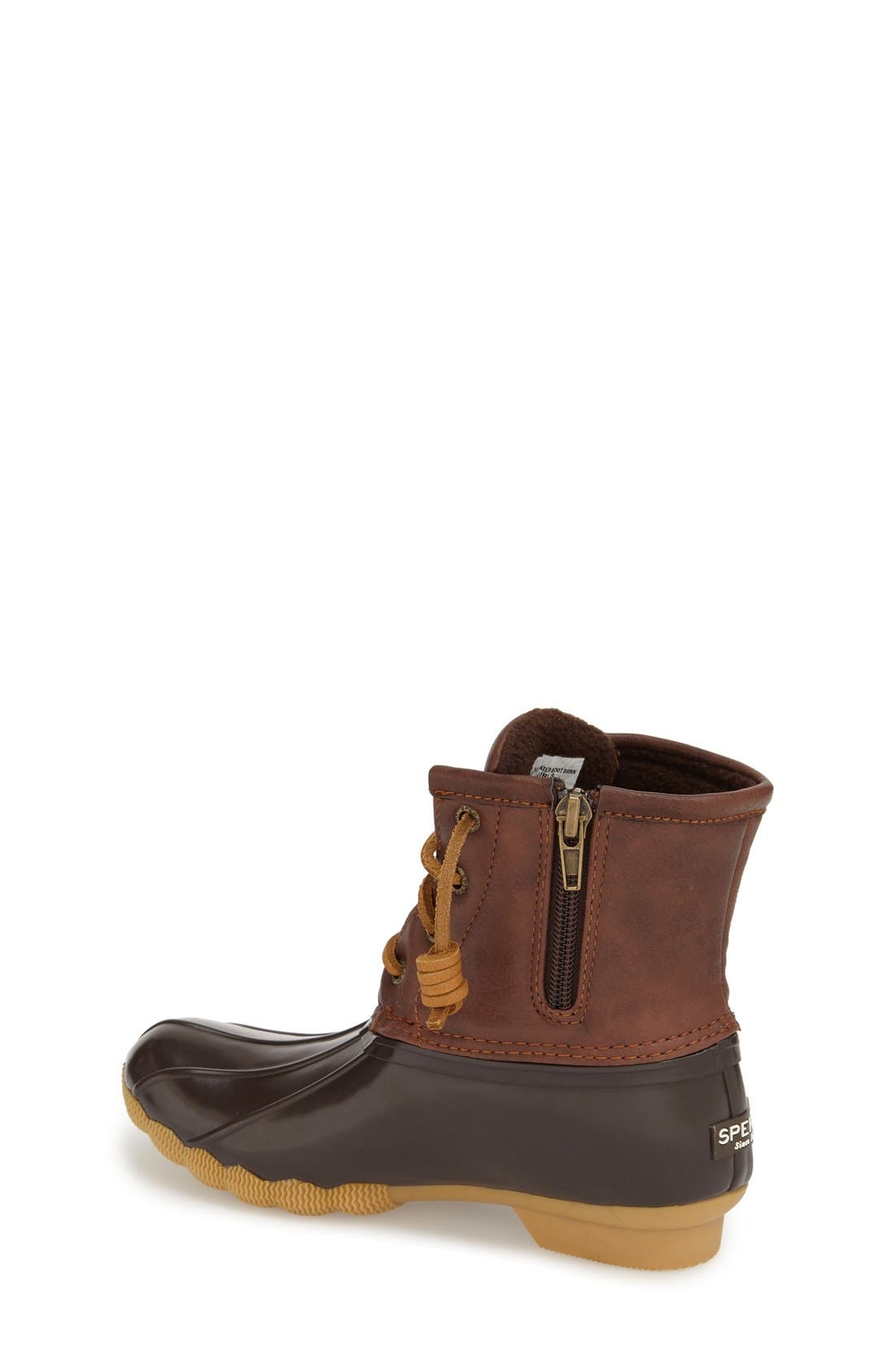 Saltwater Duck Boot,                             Alternate thumbnail 4, color,                             BROWN