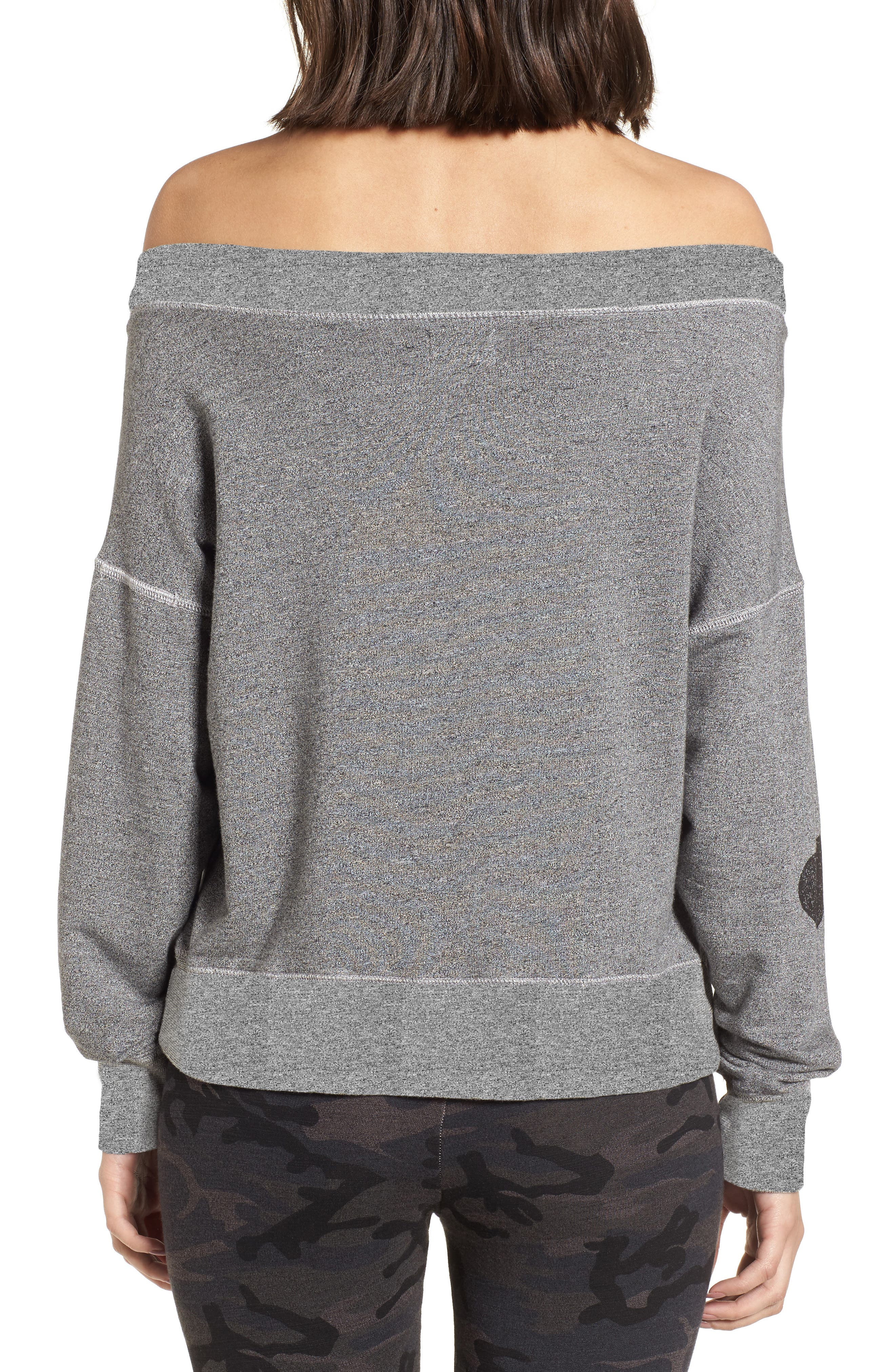 California Off the Shoulder Pullover,                             Alternate thumbnail 2, color,