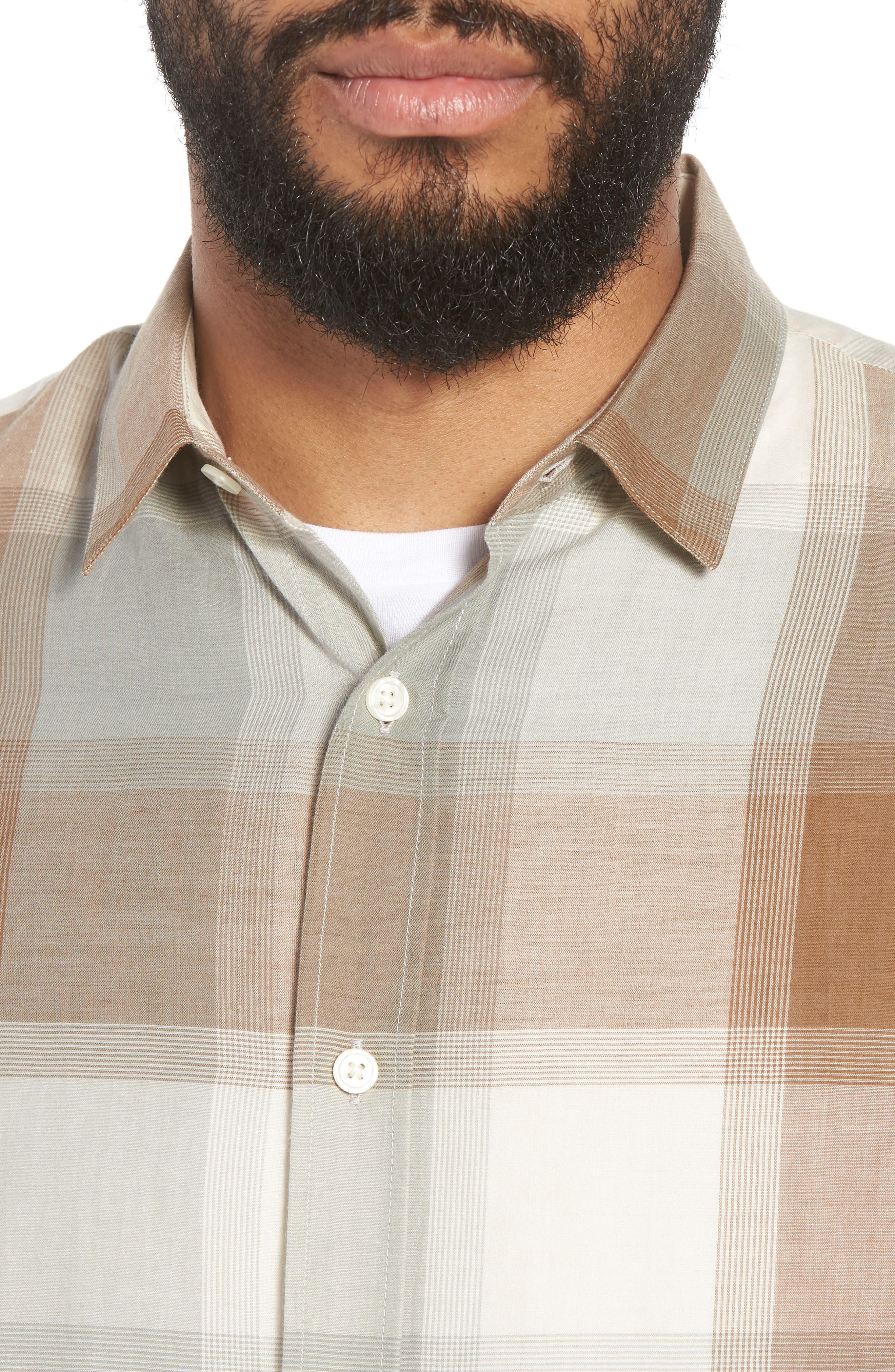 Classic Fit Plaid Sport Shirt,                             Alternate thumbnail 4, color,                             272
