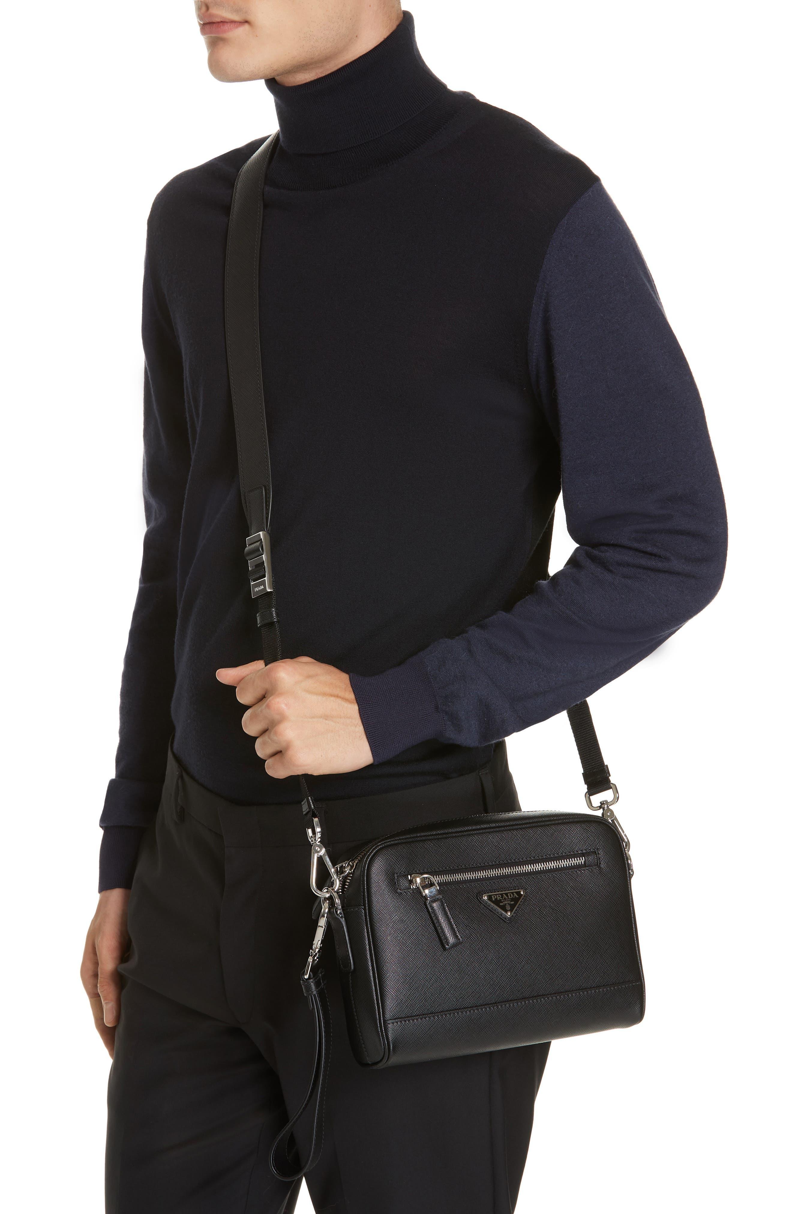 Saffiano Leather Travel Bag,                             Alternate thumbnail 2, color,                             001
