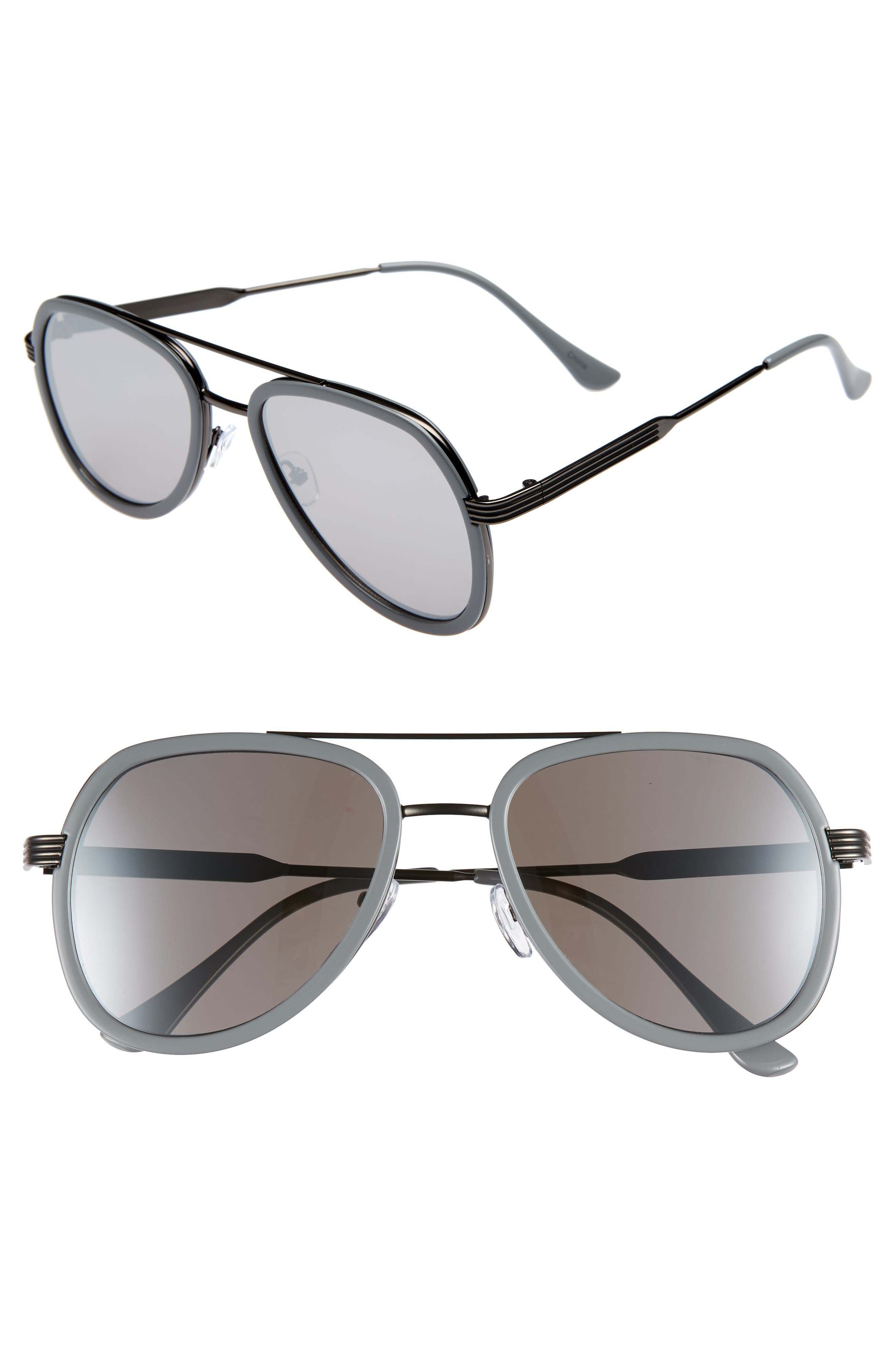 50mm Aviator Sunglasses,                             Main thumbnail 1, color,                             GREY