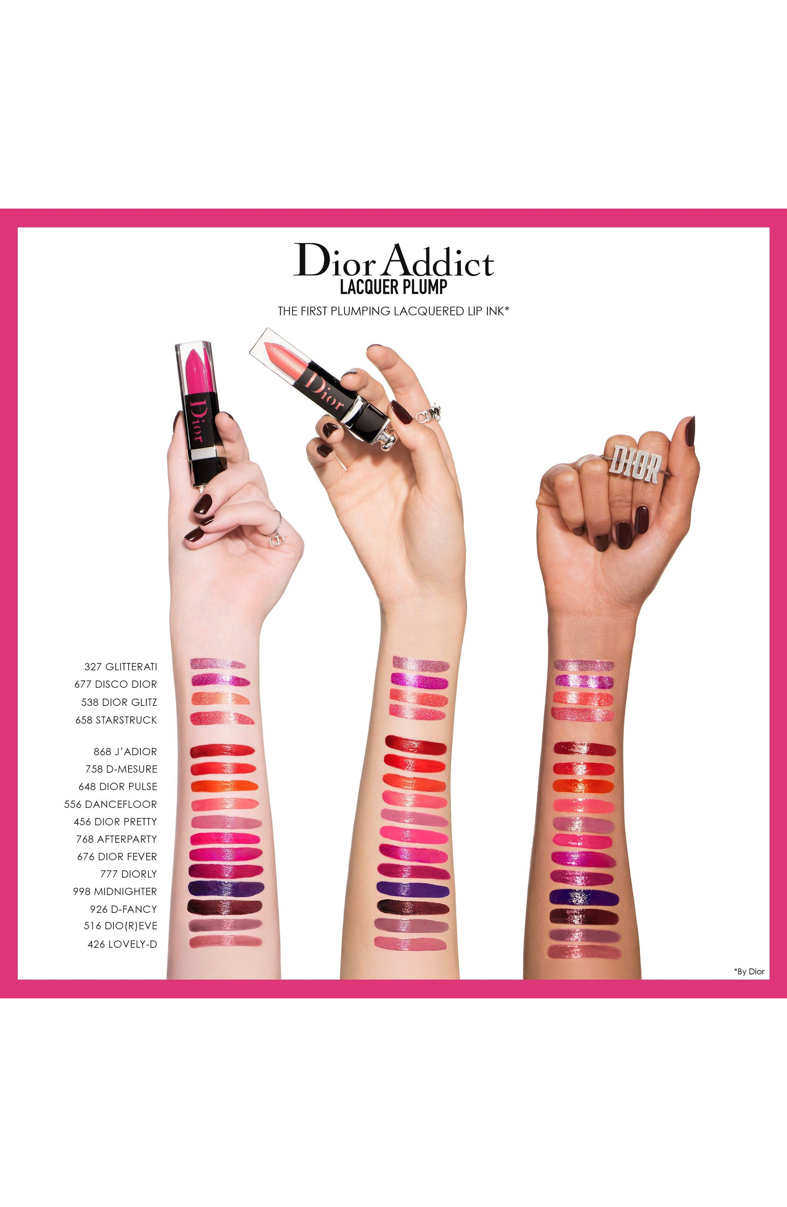 DIOR,                             Addict Lip Plumping Lacquer Ink,                             Alternate thumbnail 3, color,                             926 D-FANCY / BOLD CHOCOLATE