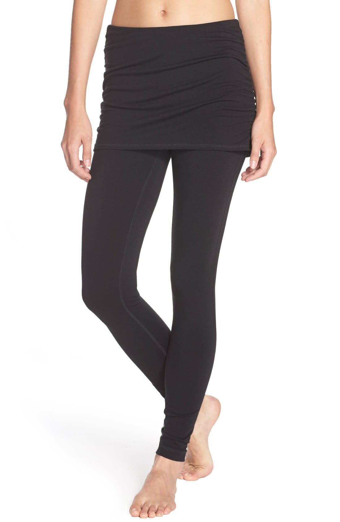'Layer Me Up' Skirted Leggings,                         Main,                         color, 001