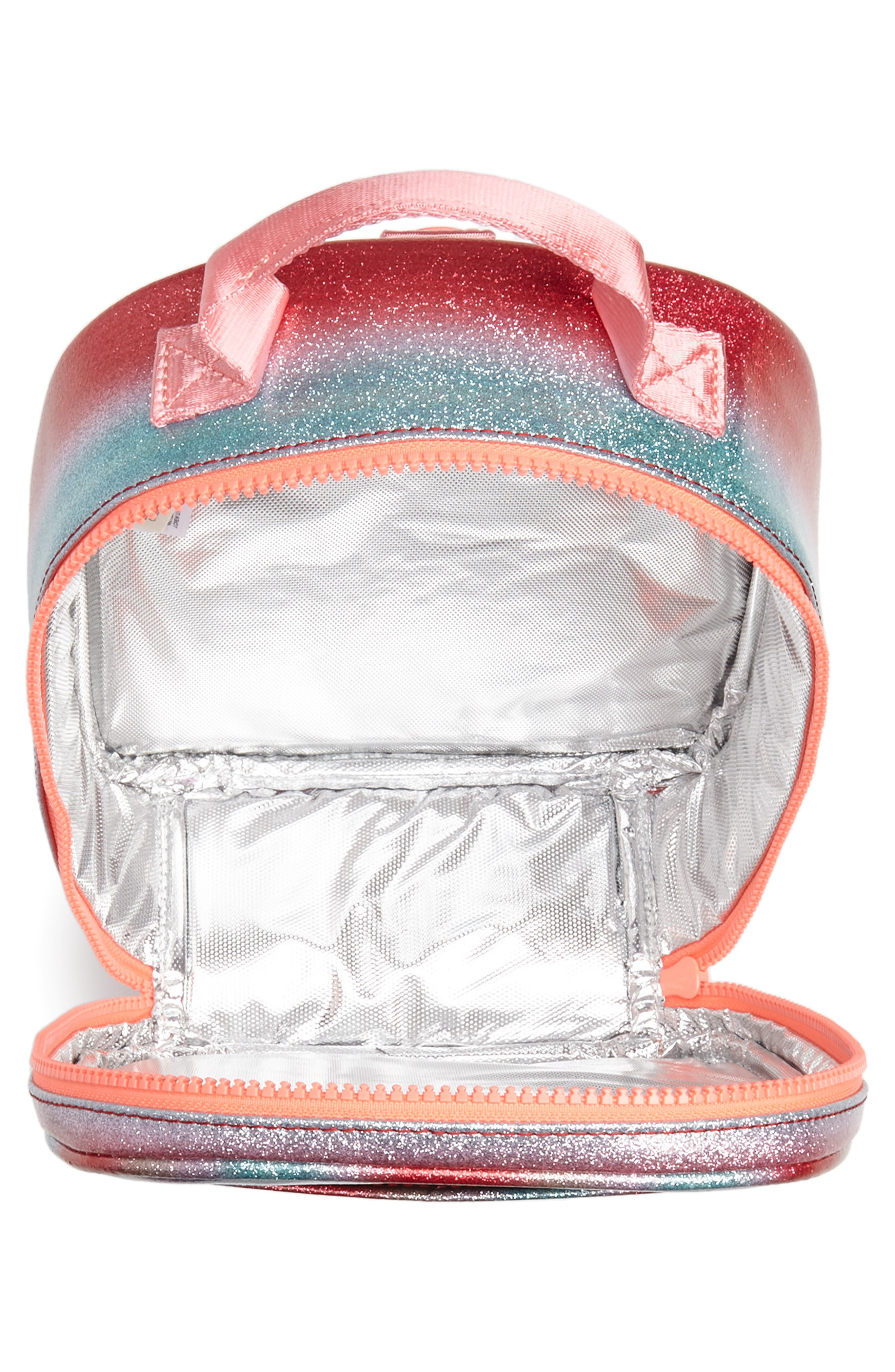 Glitter Stripe Lunch Box,                             Alternate thumbnail 3, color,                             RAINBOW
