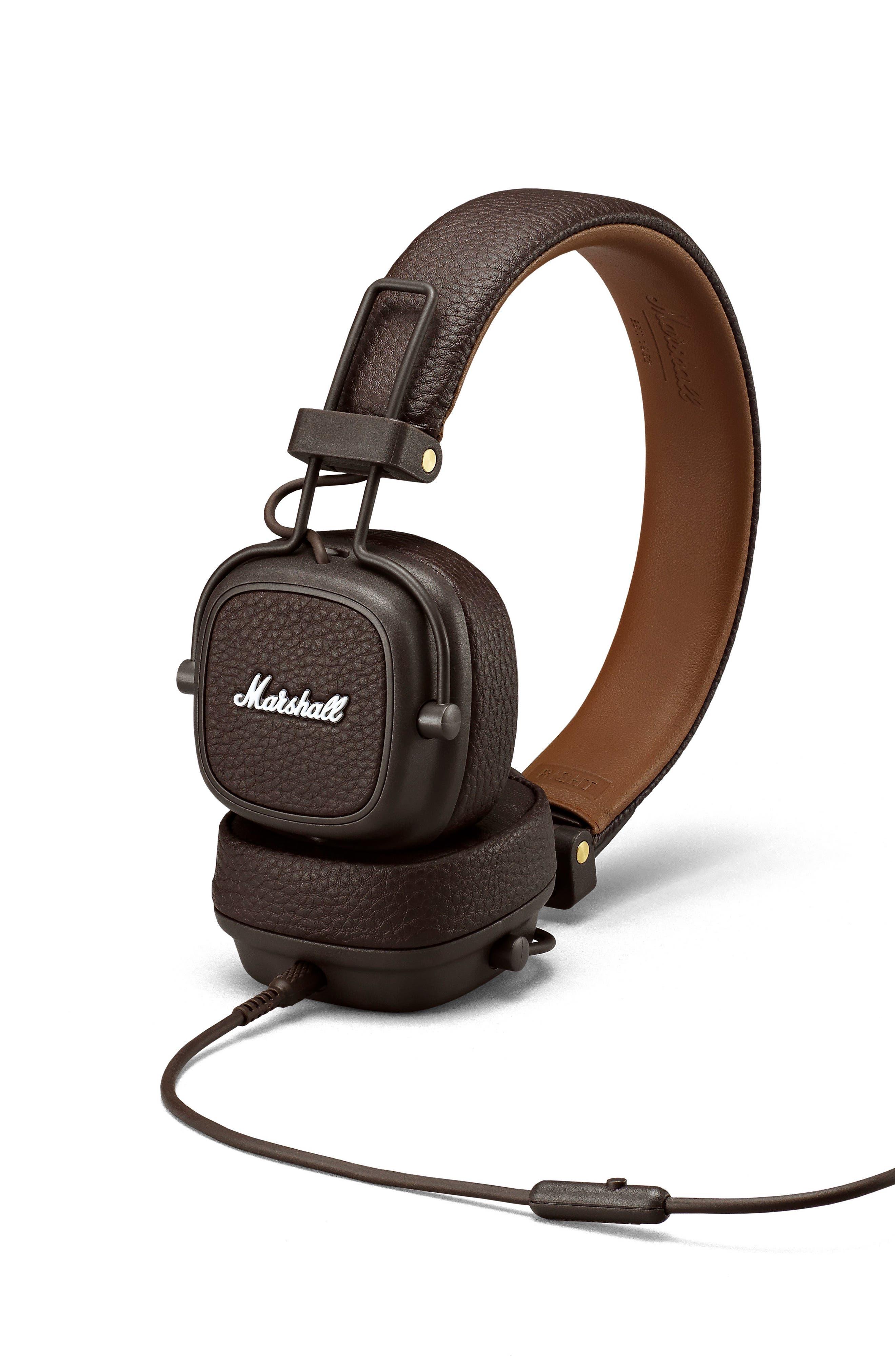 Major III Wired Headphones,                             Alternate thumbnail 2, color,                             BROWN