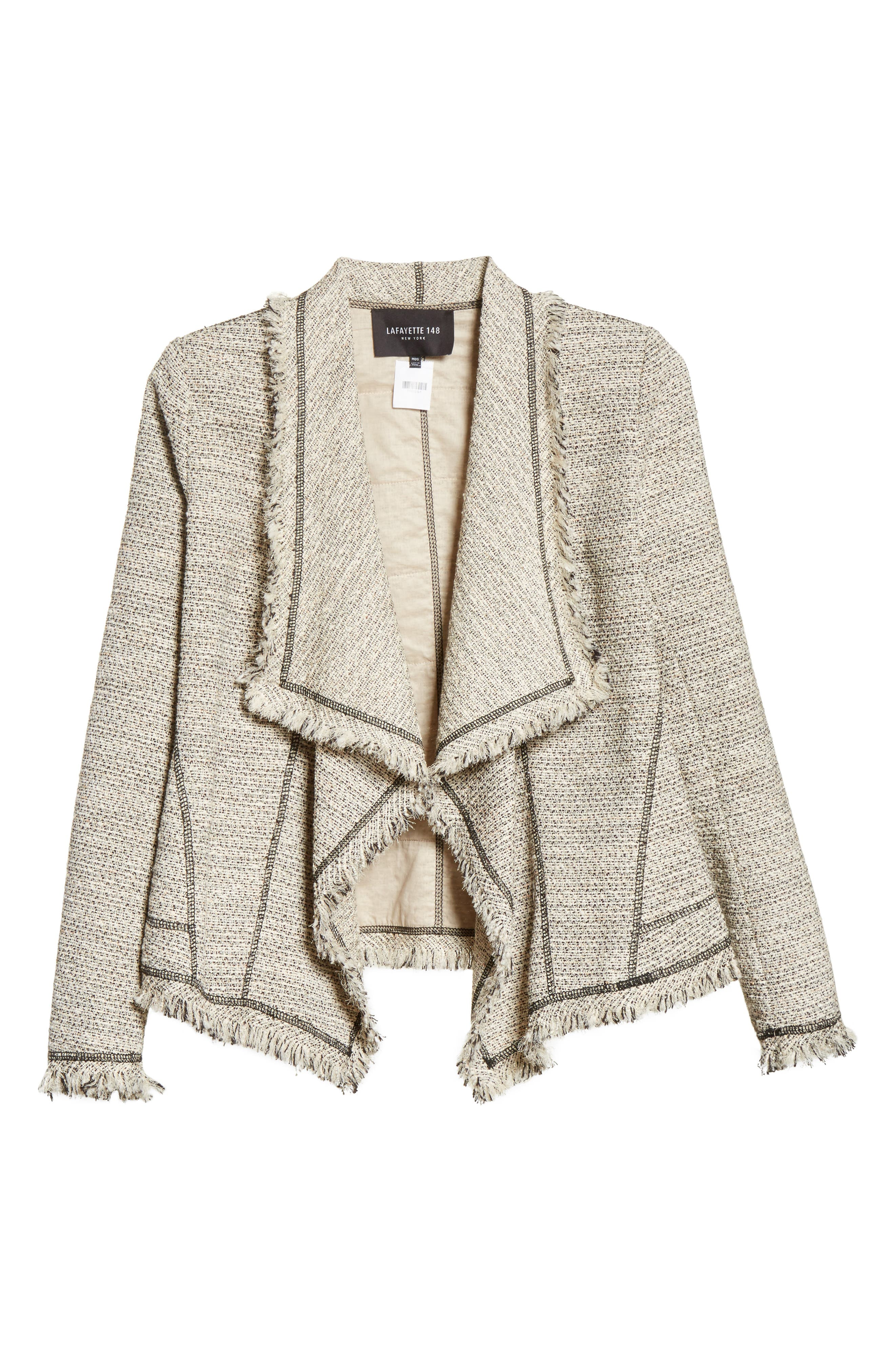 Eugena Drape Tweed Jacket,                             Alternate thumbnail 5, color,                             255