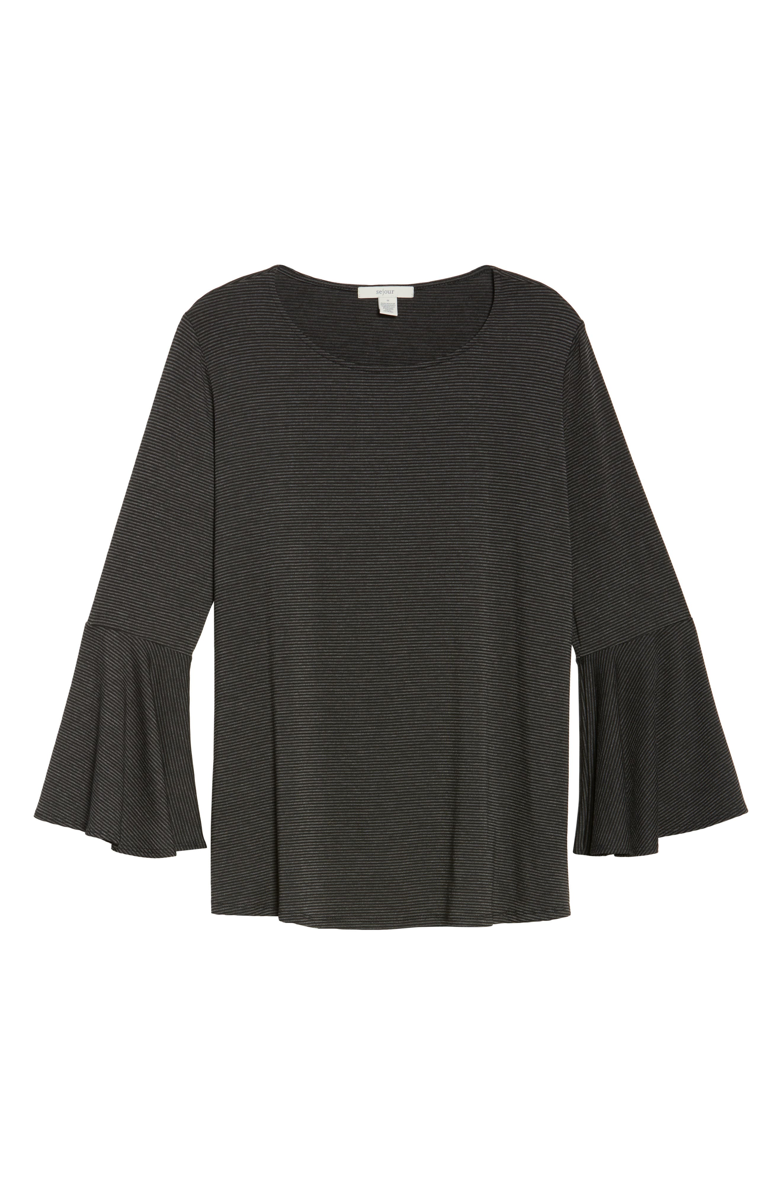 Bell Sleeve Top,                             Alternate thumbnail 6, color,                             001