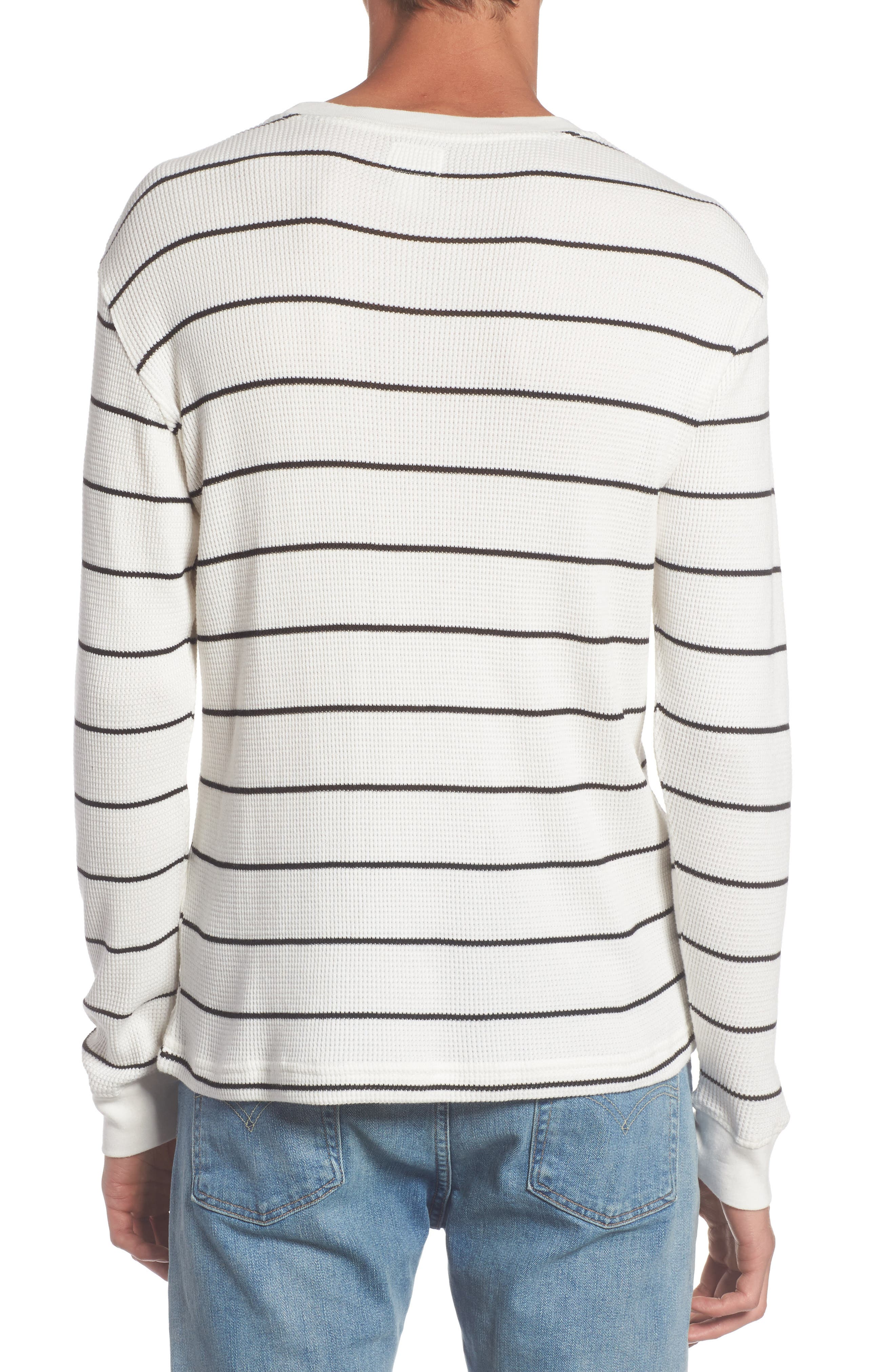 Neutral Stripe Thermal T-Shirt,                             Alternate thumbnail 2, color,                             111