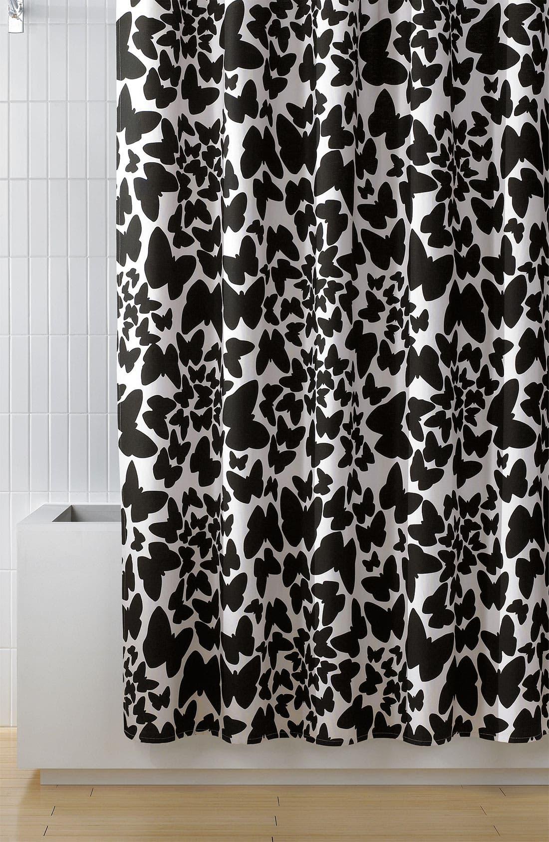 'Butterflies' Shower Curtain, Main, color, 001