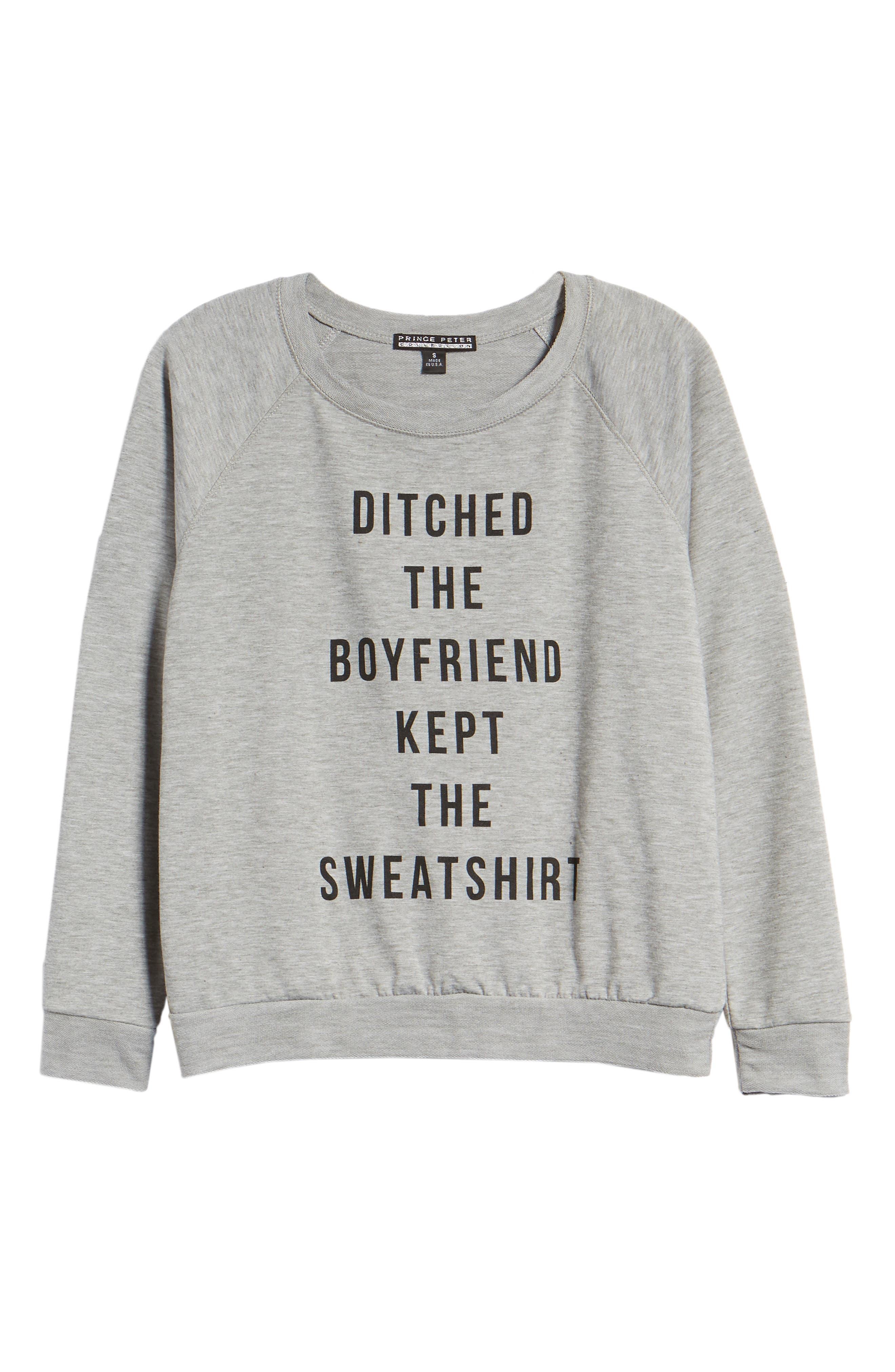 Ditched the Boyfriend Sweatshirt,                             Alternate thumbnail 6, color,