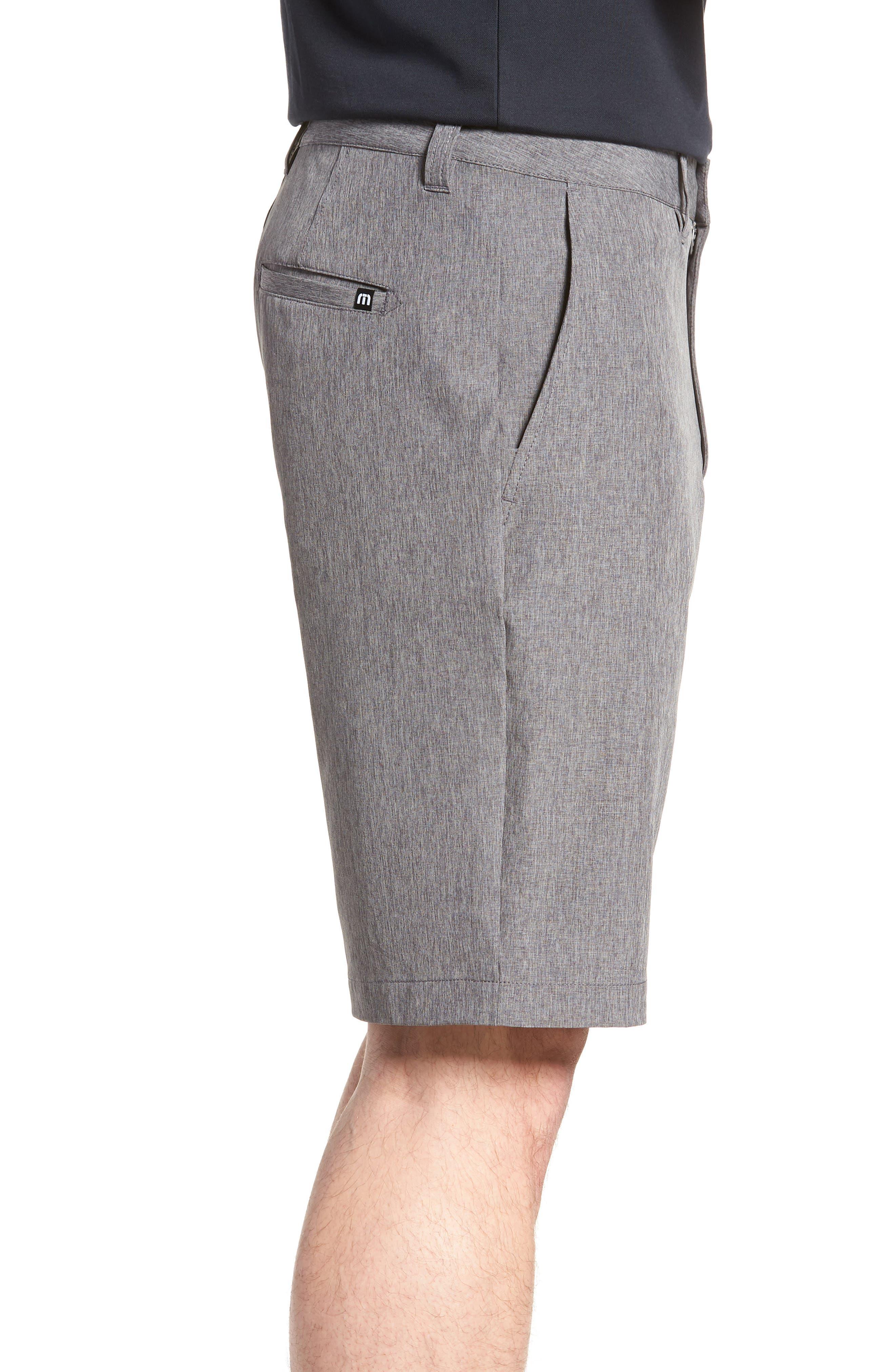 'Palladium' Performance Stretch Heathered Golf Shorts,                             Alternate thumbnail 3, color,                             021